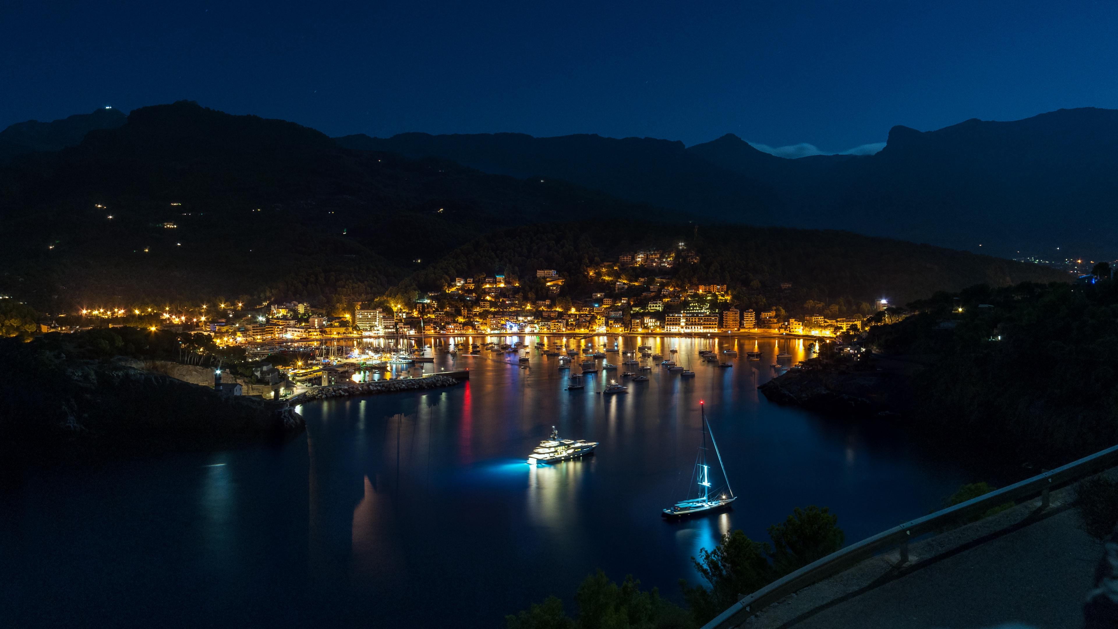 majorca spain night shore 4k 1538068499 - majorca, spain, night, shore 4k - Spain, Night, majorca
