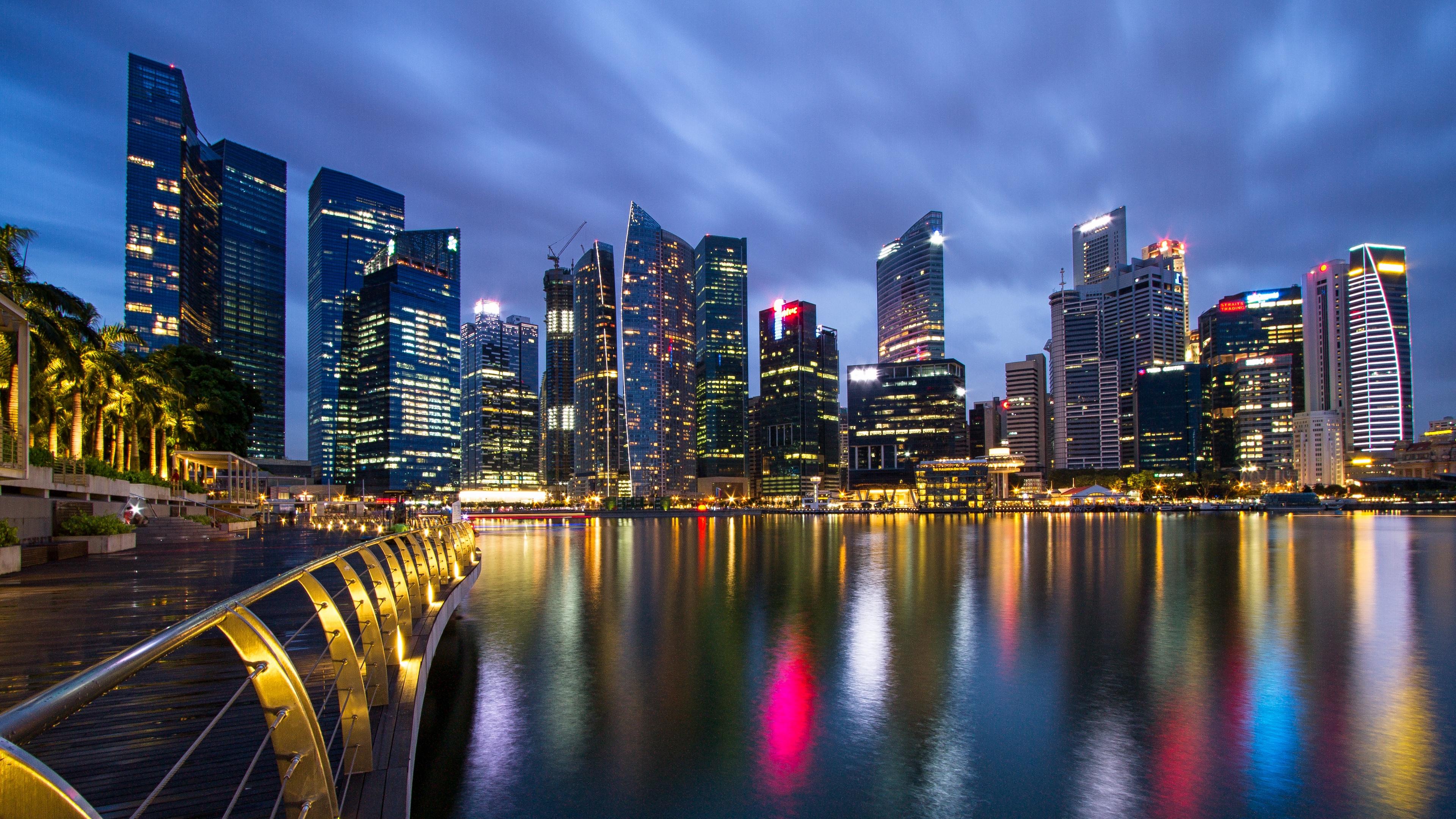malaysia singapore city state metropolis skyscrapers night lights light blue sky bridge embankment spilling 4k 1538068051 - malaysia, singapore, city-state, metropolis, skyscrapers, night, lights, light blue, sky, bridge, embankment, spilling 4k - Singapore, Malaysia, city-state