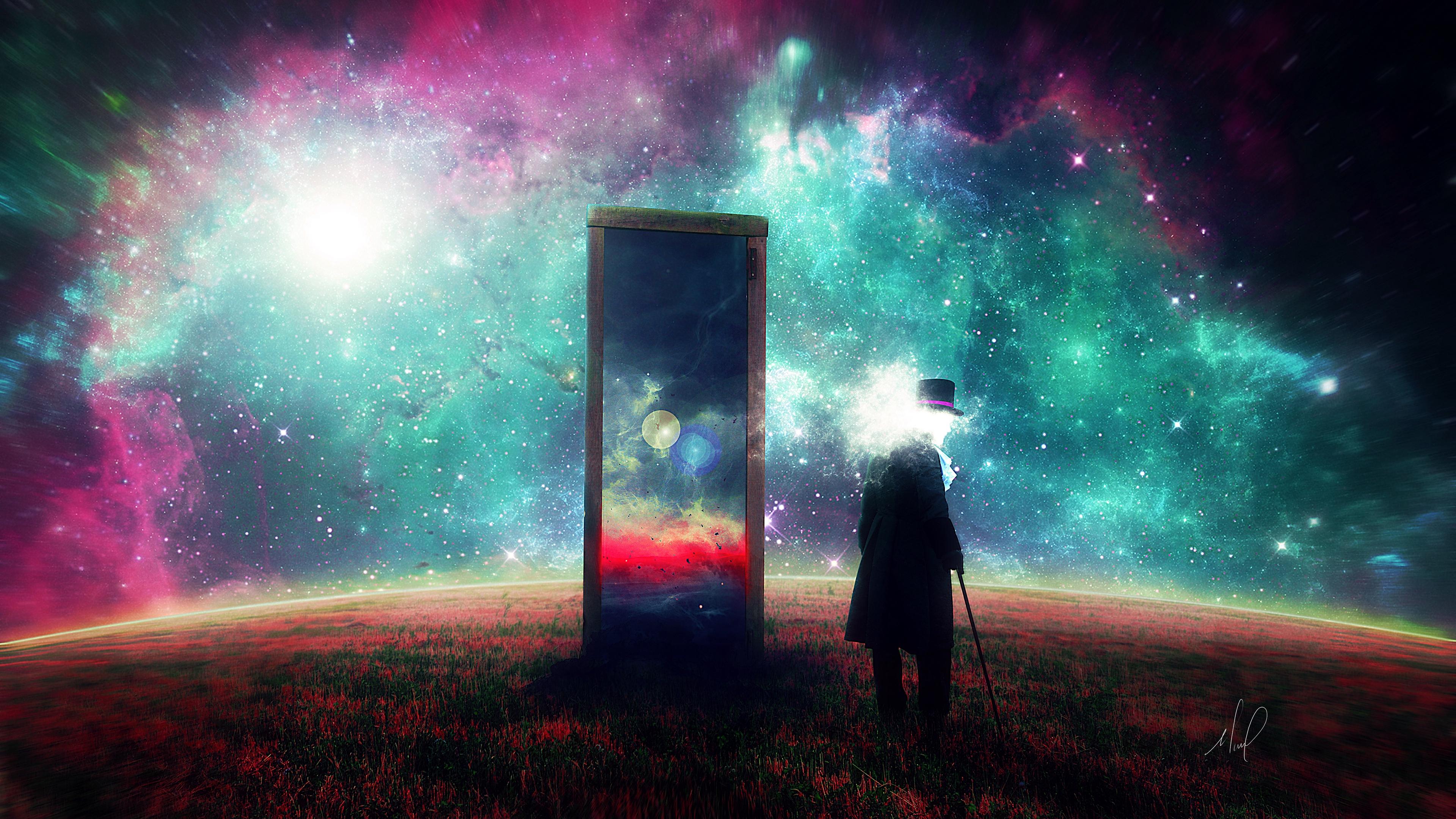 man mirror space art surrealism 4k 1536098495 - man, mirror, space, art, surrealism 4k - Space, Mirror, Man