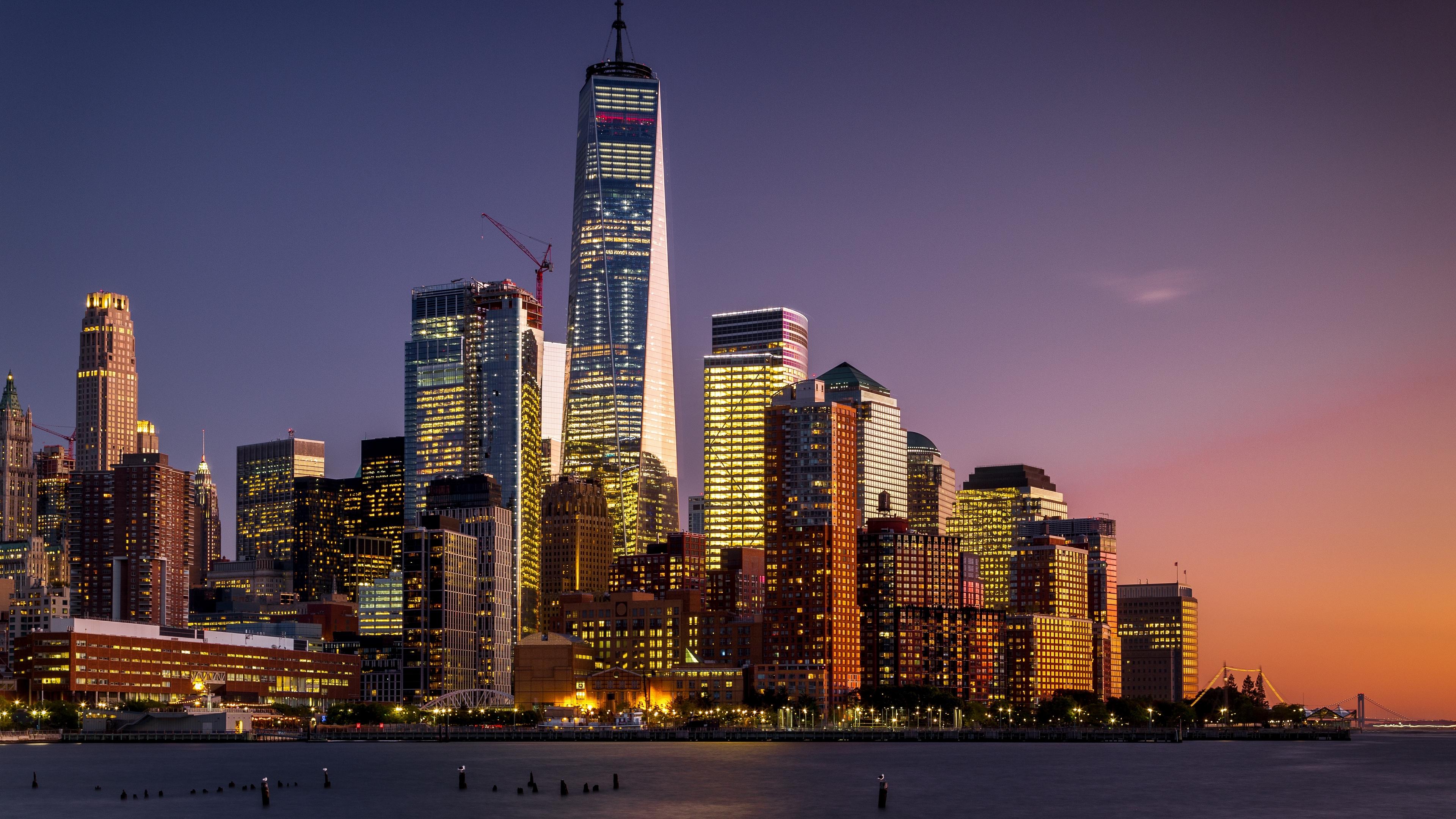 manhattan new york usa skyscrapers 4k 1538066429 - manhattan, new york, usa, skyscrapers 4k - USA, new york, Manhattan