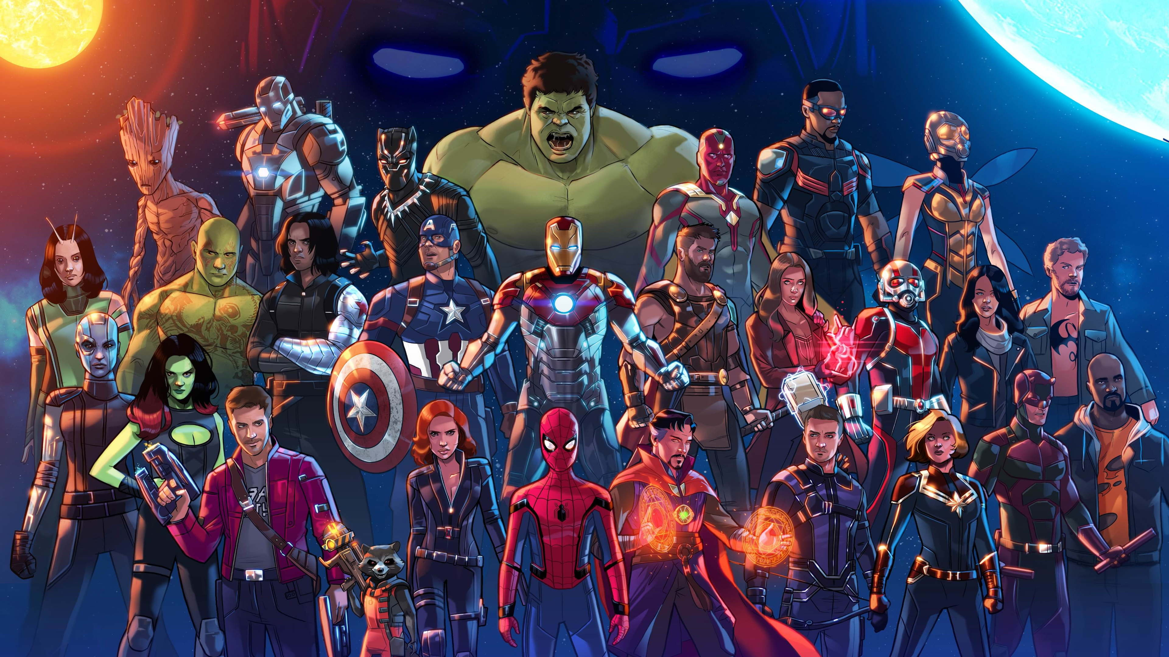 marvel cinematic universe artwork5k 1536523877 - Marvel Cinematic Universe Artwork5k - winter solider wallpapers, wasp wallpapers, war machine wallpapers, vision wallpapers, thor wallpapers, superheroes wallpapers, star lord wallpapers, spiderman wallpapers, rocket raccoon wallpapers, mantis wallpapers, luke cage wallpapers, jessica jones wallpapers, iron man wallpapers, iron fist wallpapers, hulk wallpapers, hd-wallpapers, hawkeye wallpapers, groot wallpapers, gamora wallpapers, drax the destroyer wallpapers, digital art wallpapers, daredevil wallpapers, captain marvel wallpapers, captain america wallpapers, black widow wallpapers, black panther wallpapers, artwork wallpapers, ant man wallpapers, 5k wallpapers, 4k-wallpapers