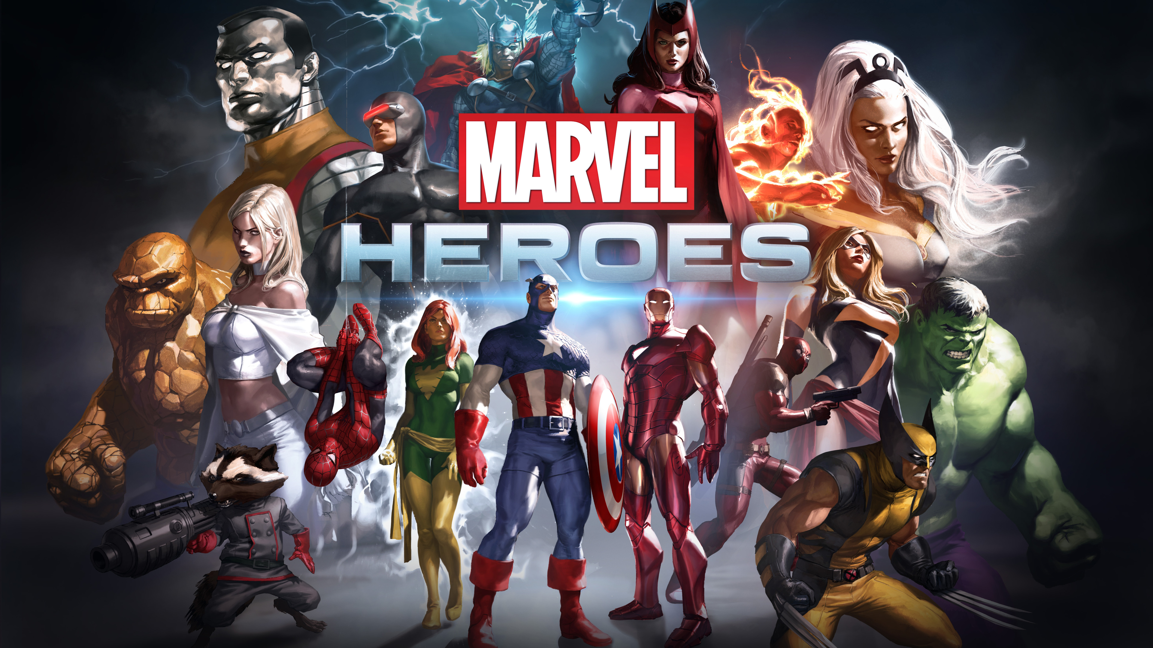 marvel heroes 5k 1536524058 - Marvel Heroes 5k - wolverine wallpapers, spiderman wallpapers, rocket raccoon wallpapers, iron man wallpapers, hulk wallpapers, hd-wallpapers, games wallpapers, captain america wallpapers, 5k wallpapers, 4k-wallpapers