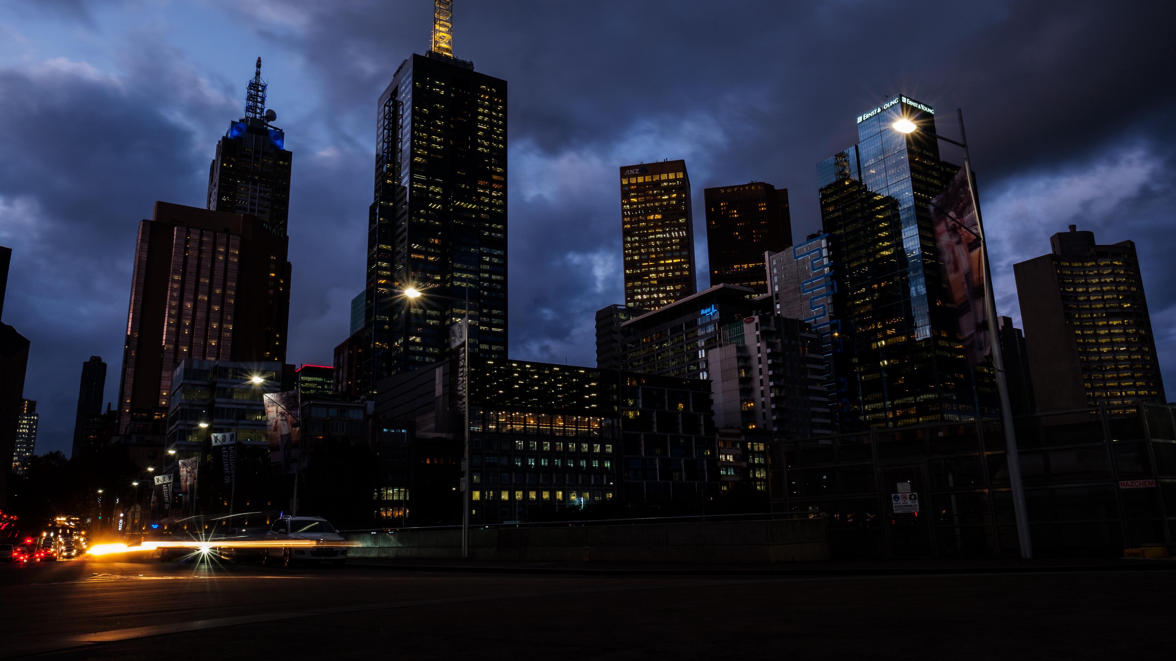 melbourne australia skyscrapers night 4k 1538066172 - melbourne, australia, skyscrapers, night 4k - Skyscrapers, Melbourne, Australia