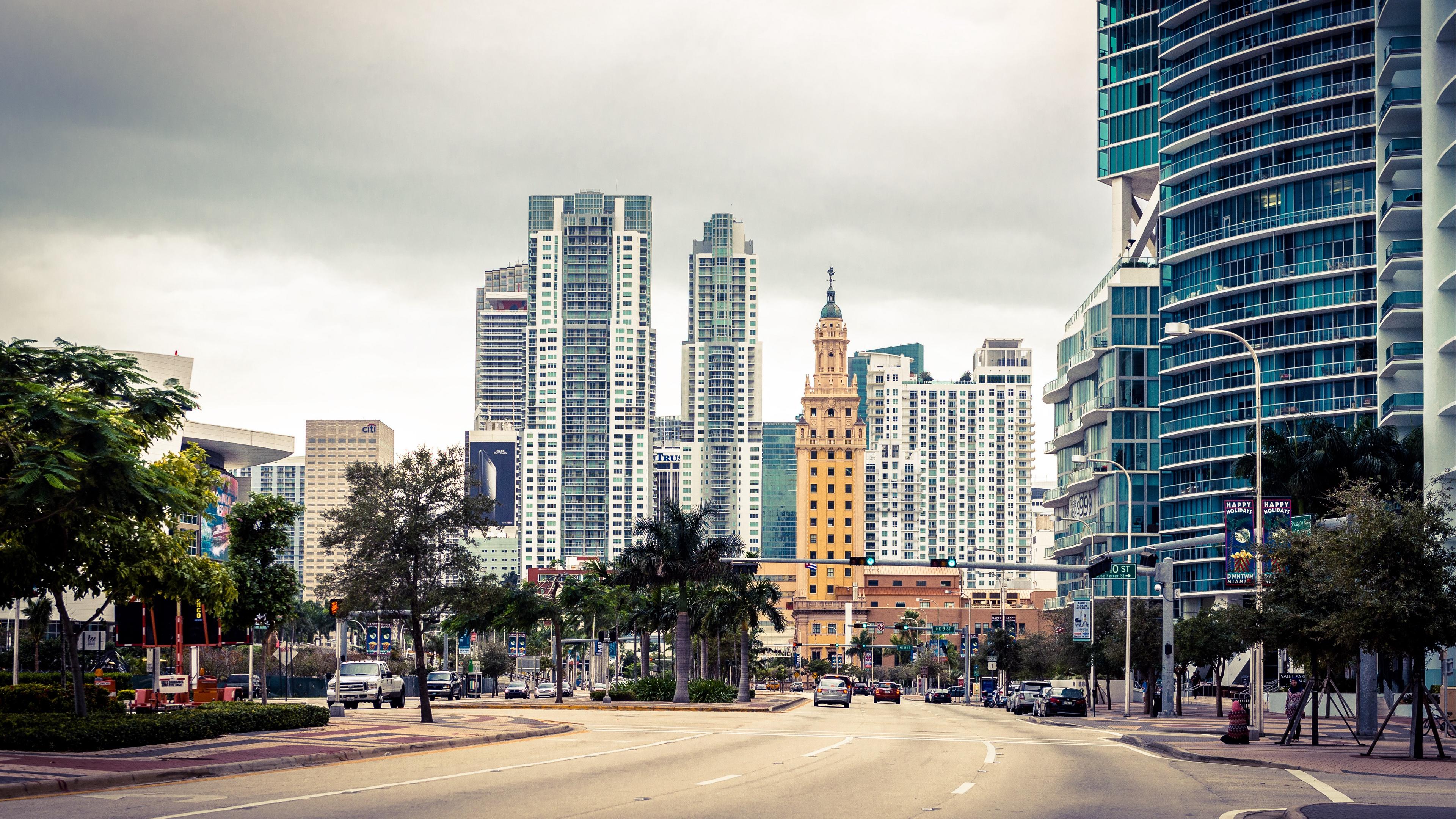 miami florida usa skyscraper street 4k 1538068751 - miami, florida, usa, skyscraper, street 4k - USA, Miami, florida