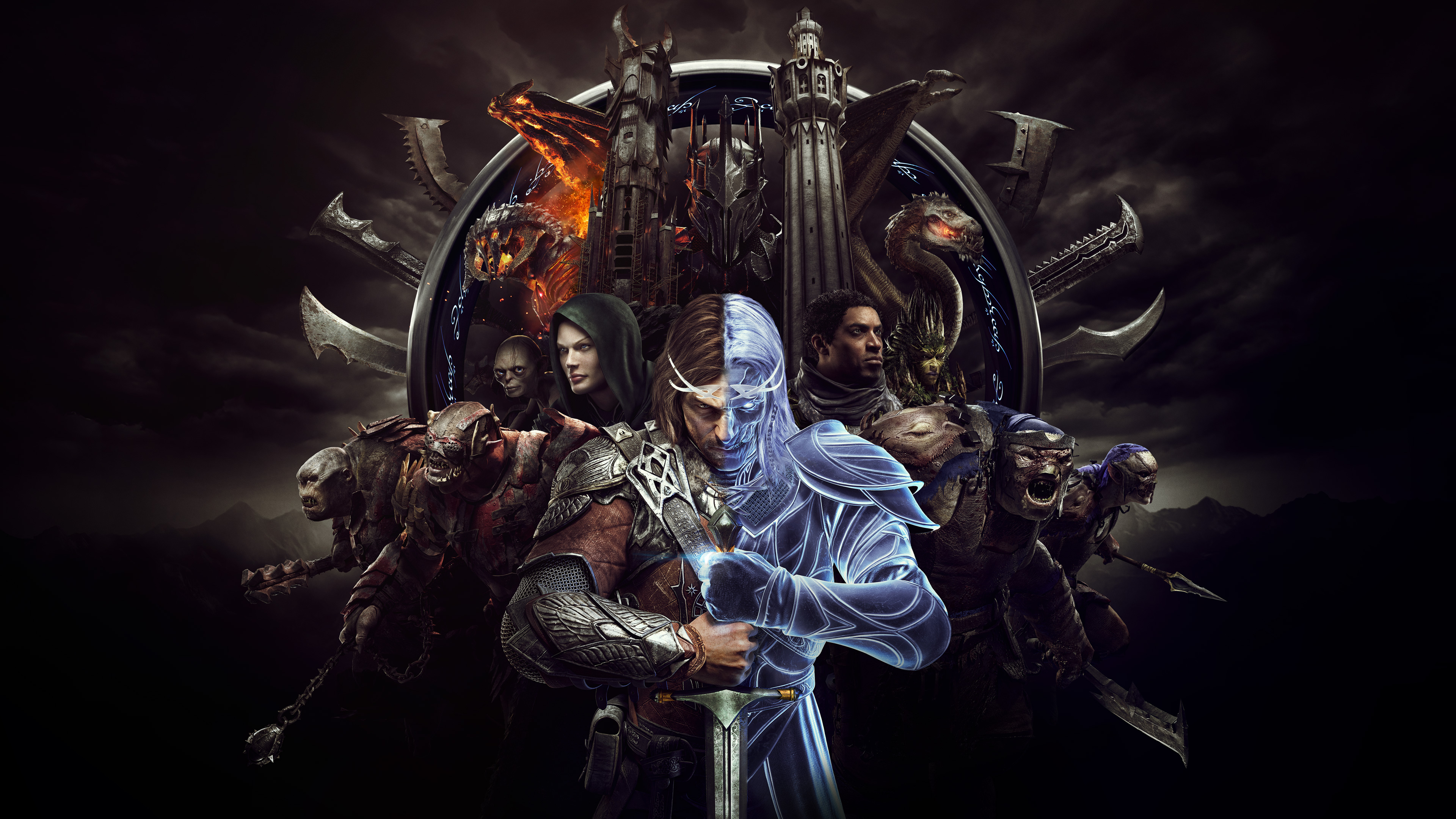 Wallpaper 4k Middle Earth Shadow Of War 4k Game 2018 Games
