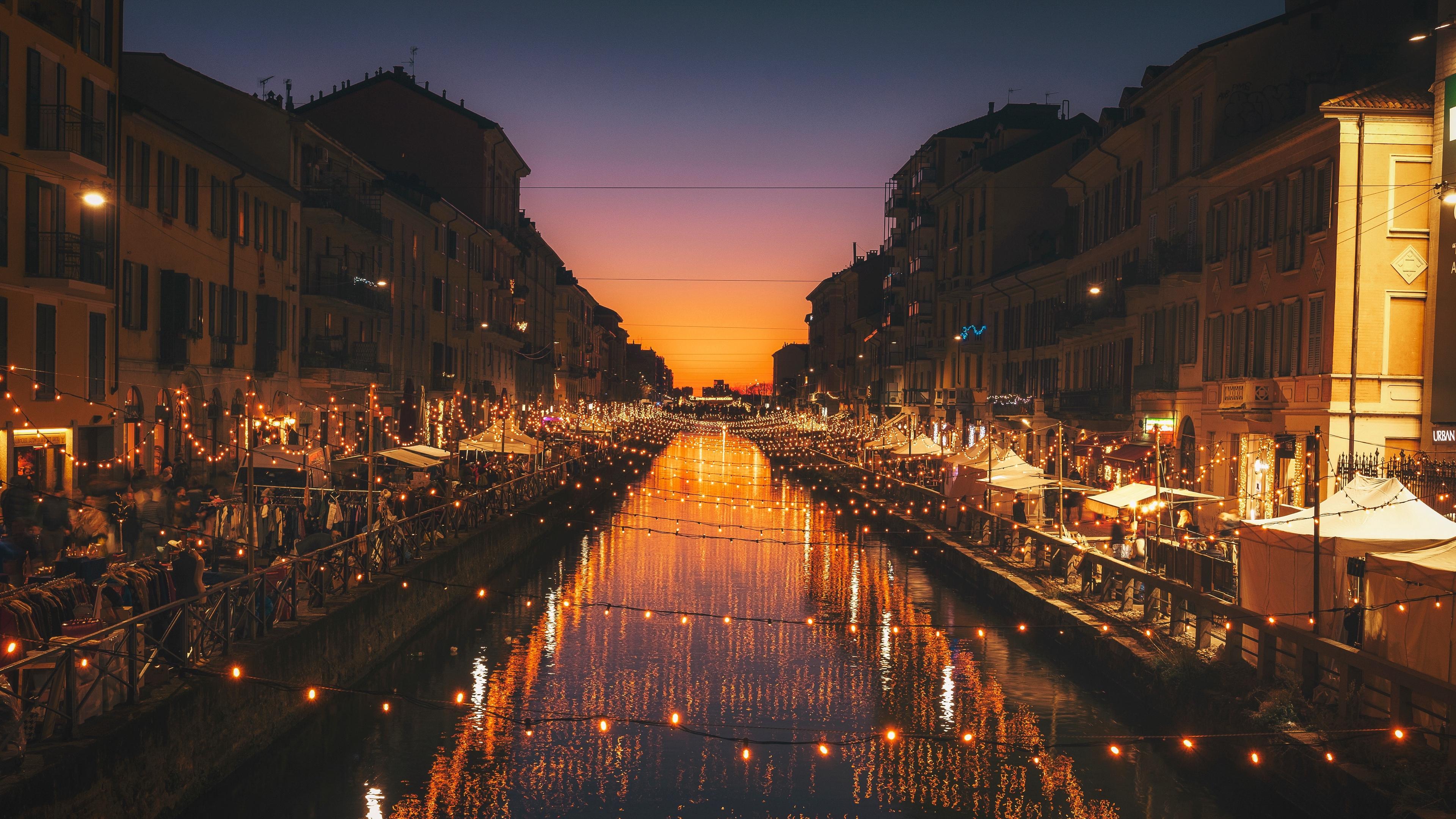 milan italy river evening city 4k 1538068041 - milan, italy, river, evening, city 4k - River, milan, Italy