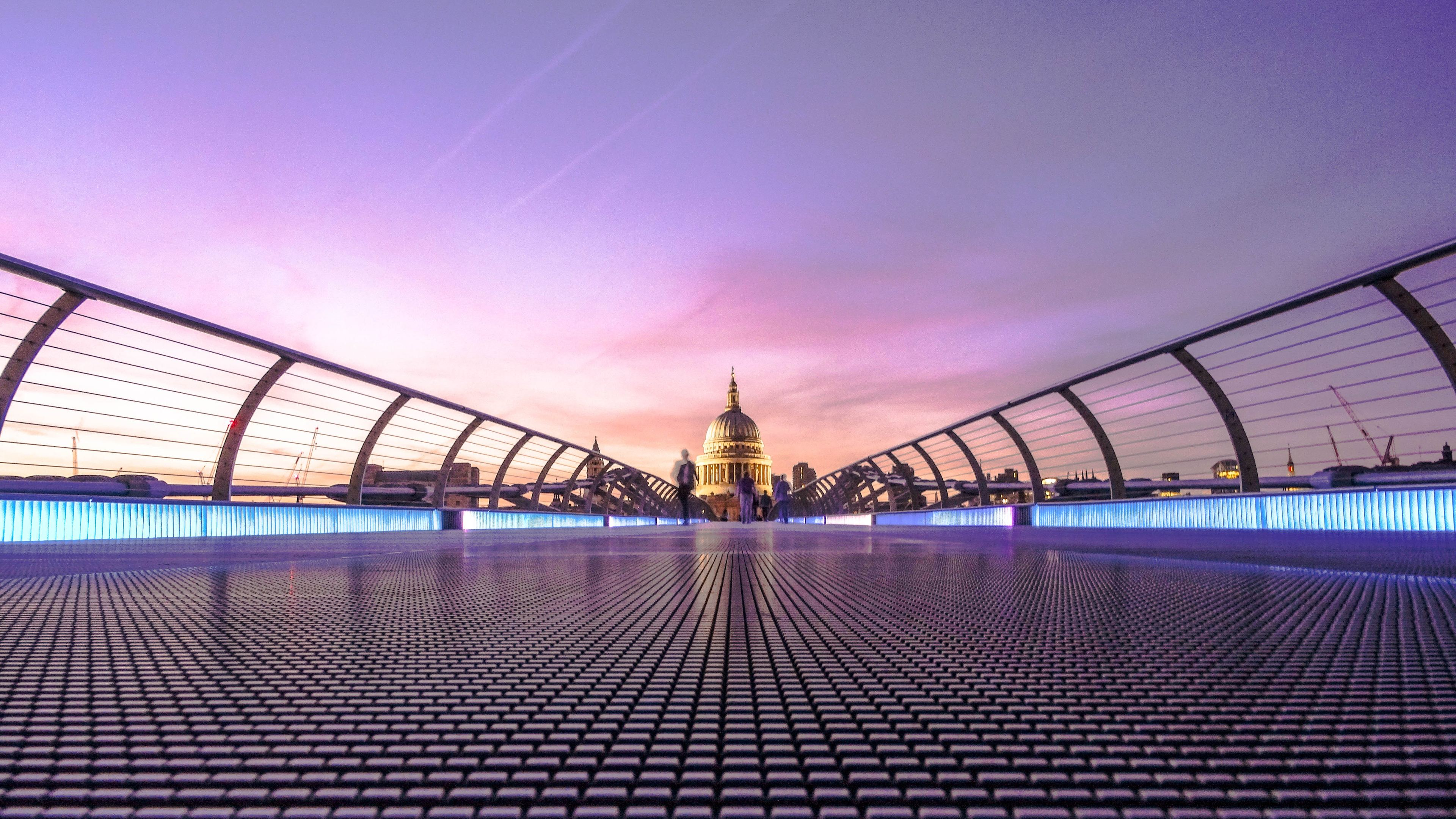 Wallpaper 4k Millennium Bridge London 5k 4k Wallpapers 5k