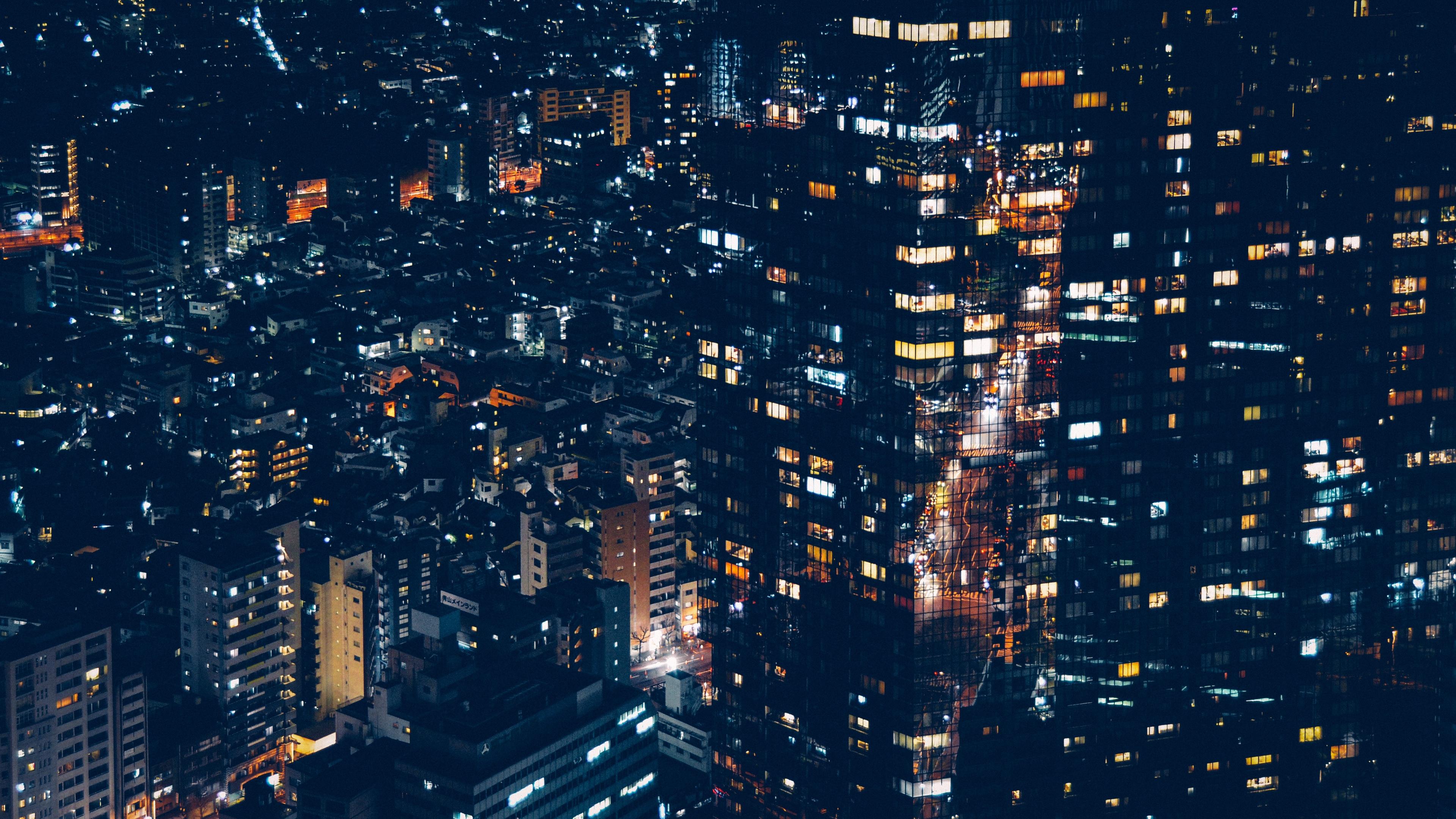 minato japan night city buildings city lights 4k 1538065146 - minato, japan, night city, buildings, city lights 4k - night city, minato, Japan