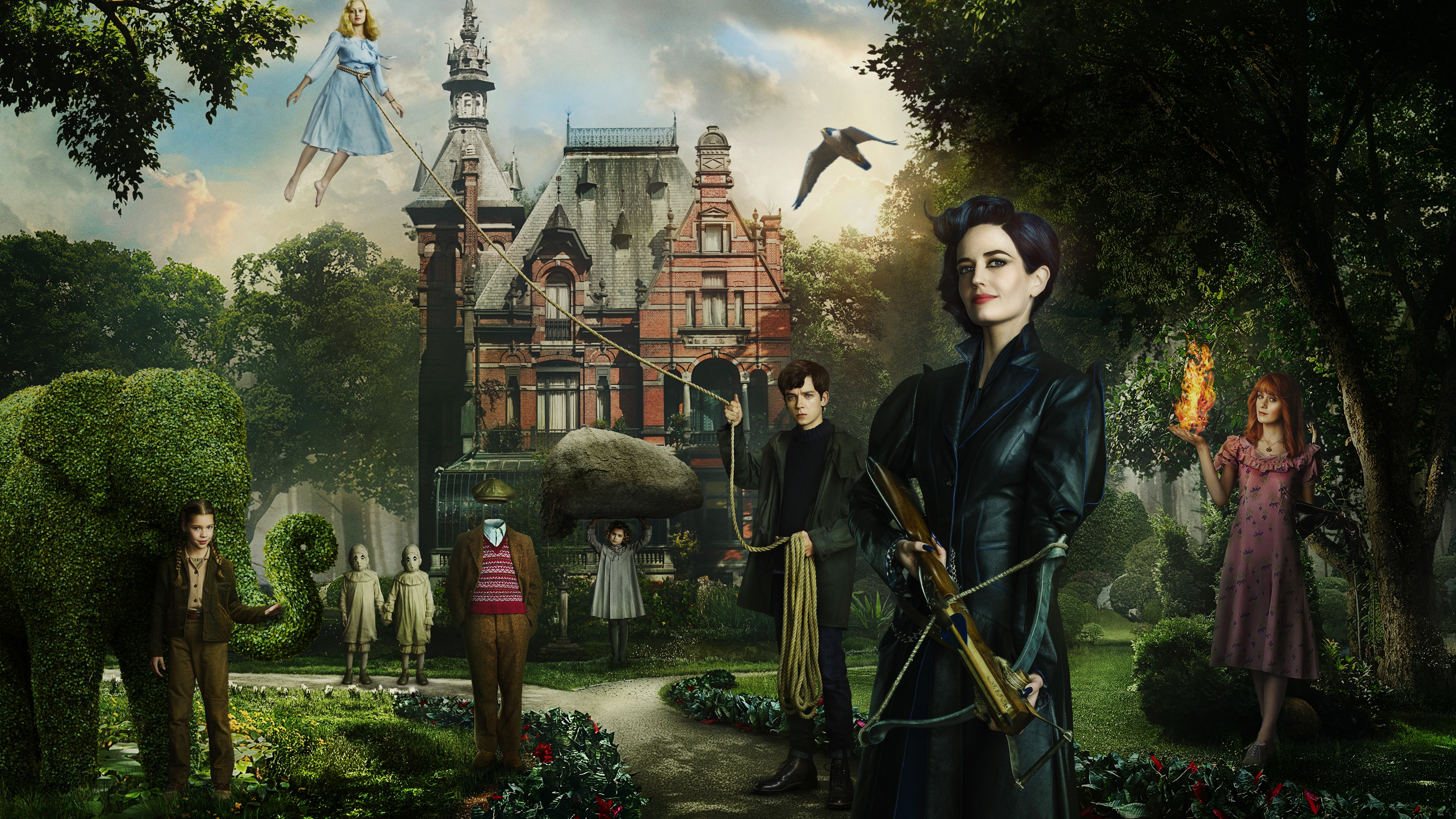 miss peregrines home for peculiar children 4k 1536399796 - Miss Peregrines Home for Peculiar Children 4k - movies wallpapers, miss peregrines home for peculiar children wallpapers, 4k-wallpapers, 2016 movies wallpapers