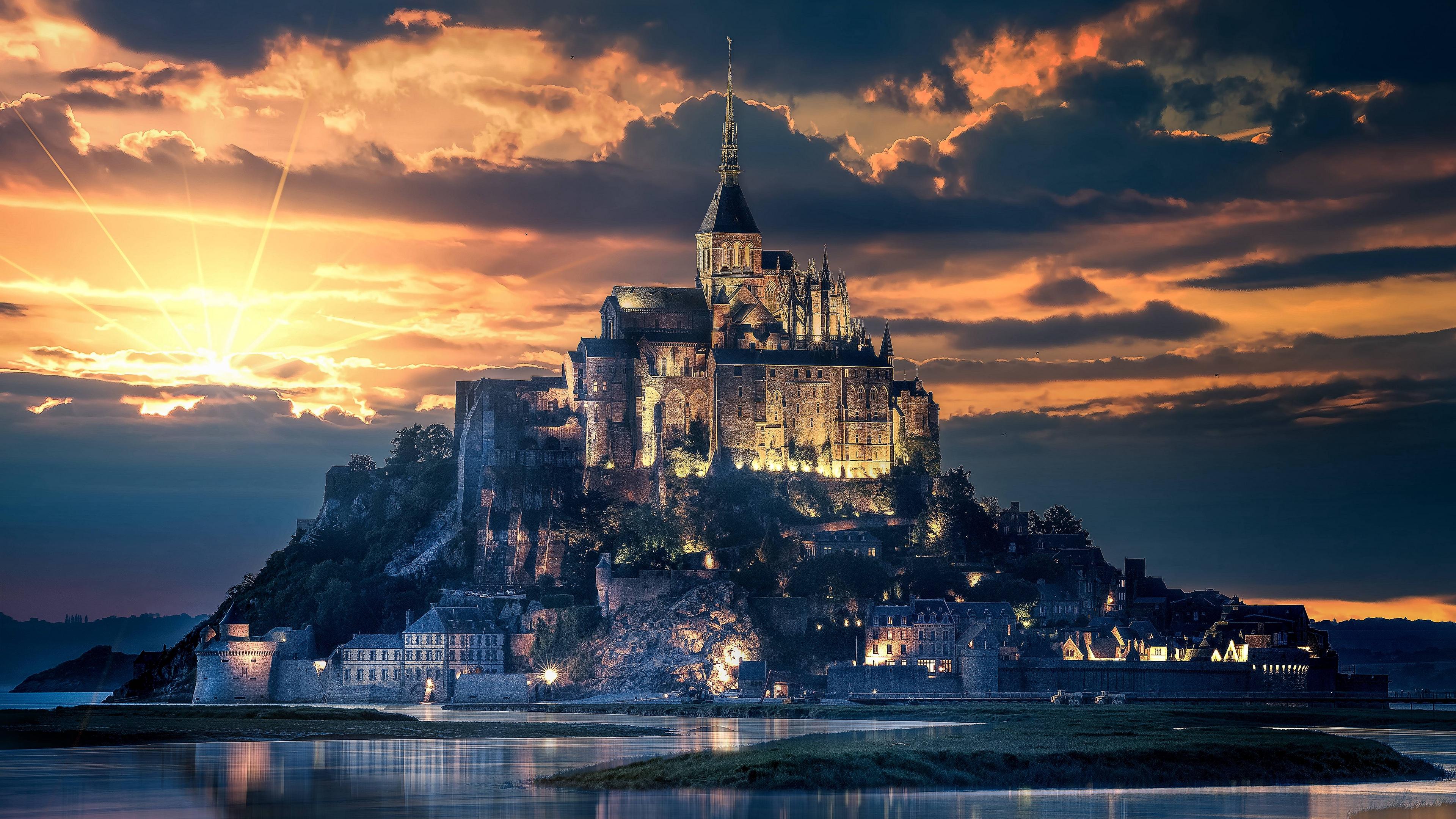 mont saint michel france island castle 4k 1538068530 - mont-saint-michel, france, island, castle 4k - mont-saint-michel, Island, France