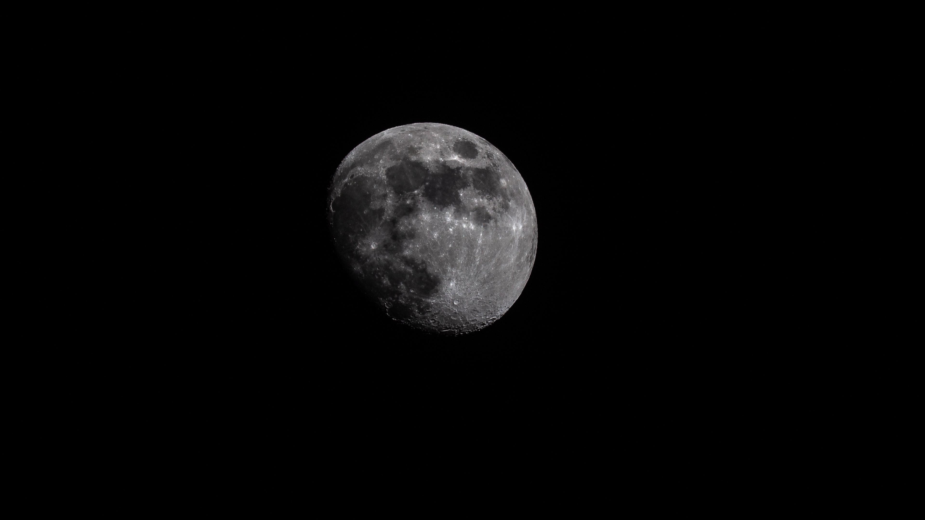 moon planet space dark 4k 1536016153 - moon, planet, space, dark 4k - Space, Planet, Moon