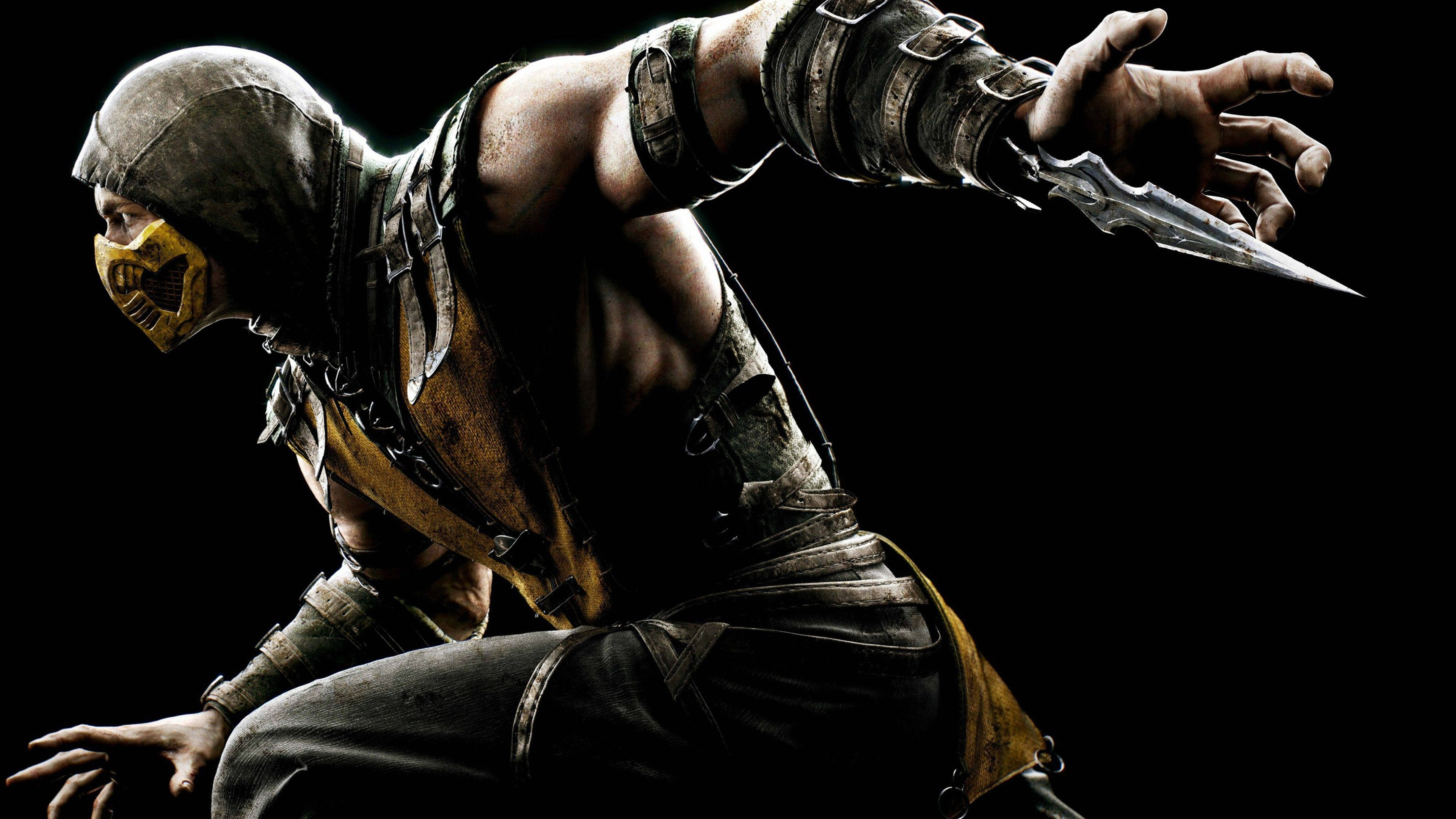 Wallpaper 4k Mortal Kombat X Scorpion Games Wallpapers Mortal