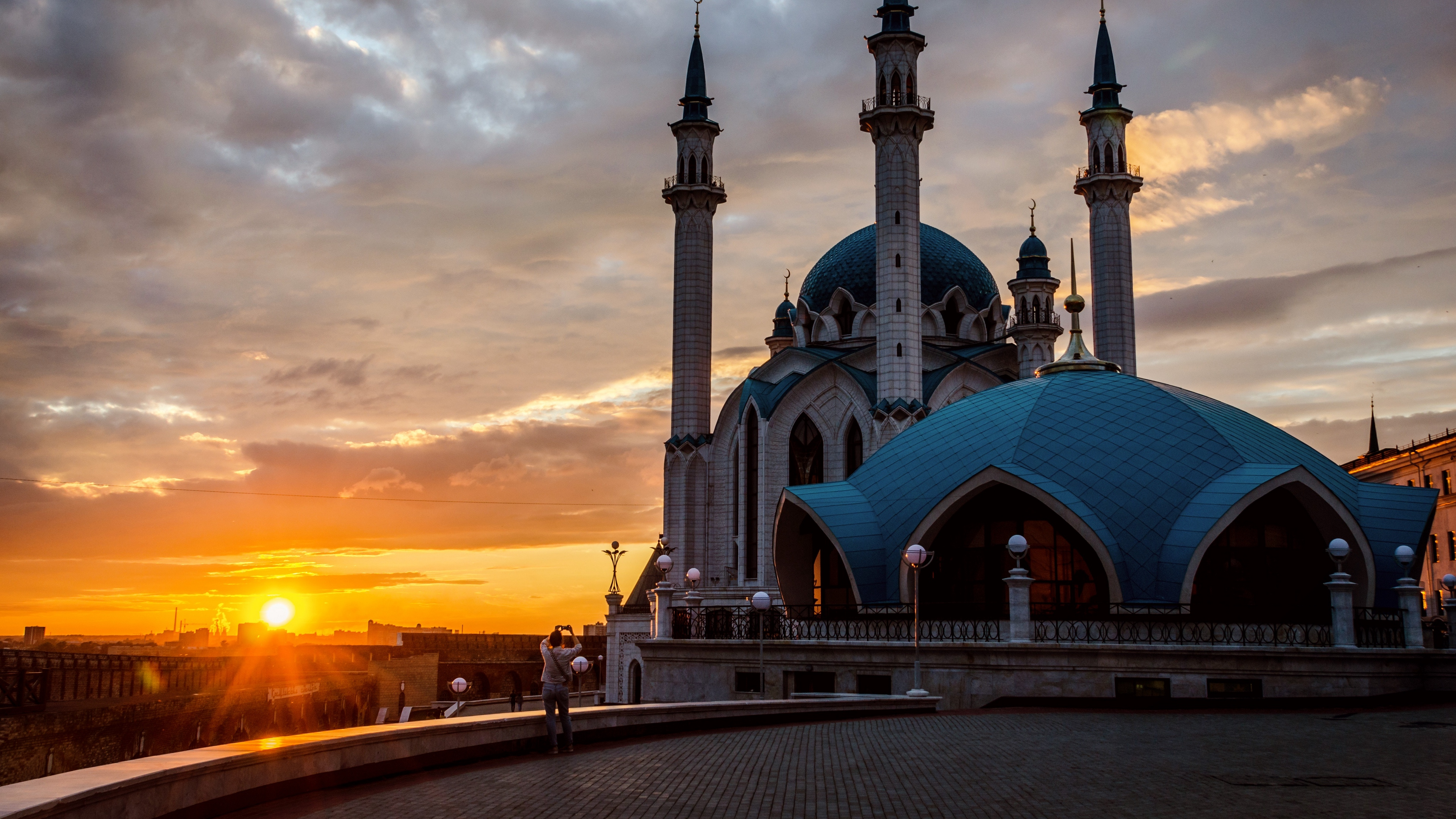 mosque kazan tatarstan sunset 4k 1538064658 - mosque, kazan, tatarstan, sunset 4k - tatarstan, Mosque, kazan