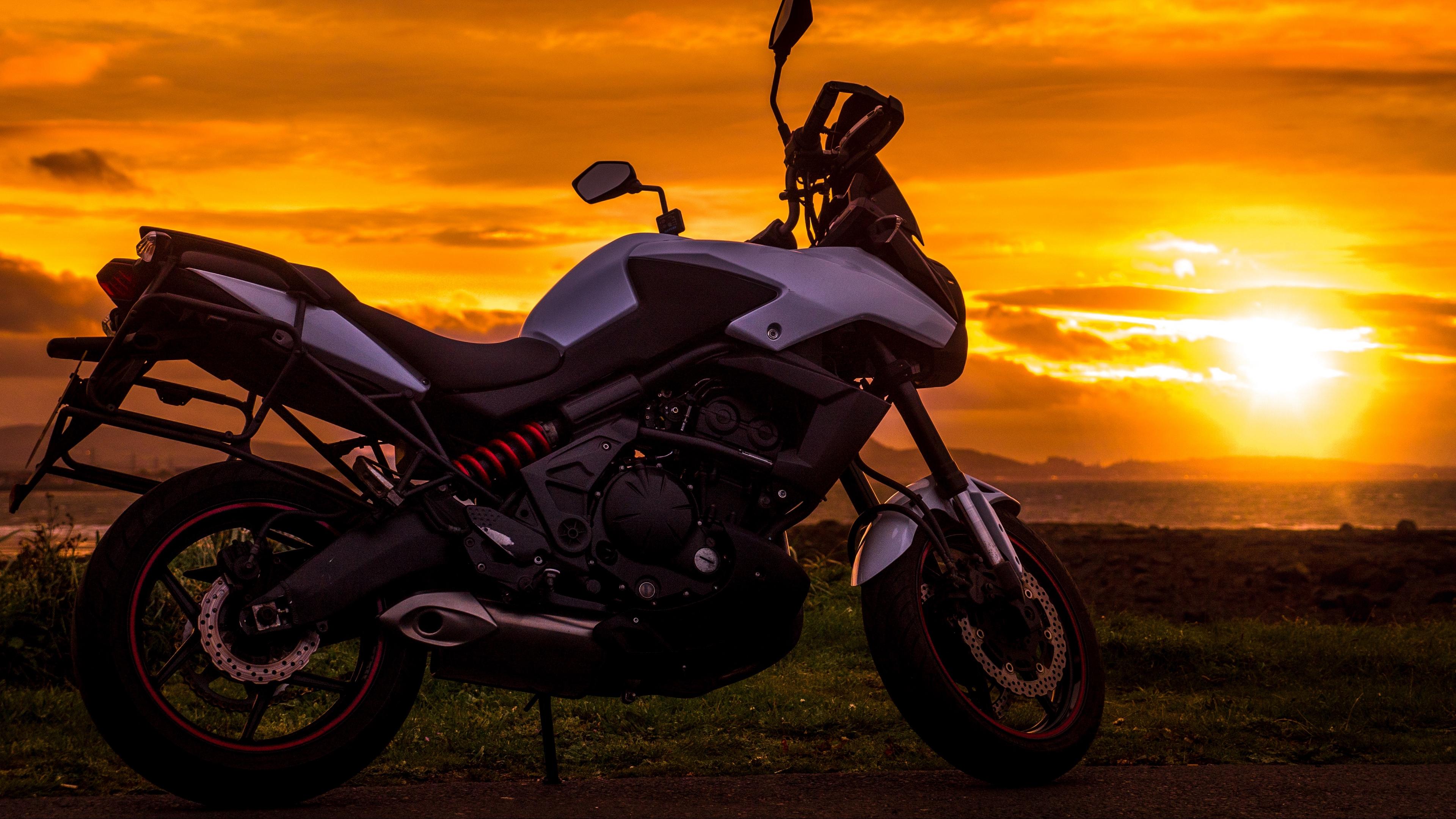 motorcycle sunset style 4k 1536018878 - motorcycle, sunset, style 4k - sunset, Style, Motorcycle