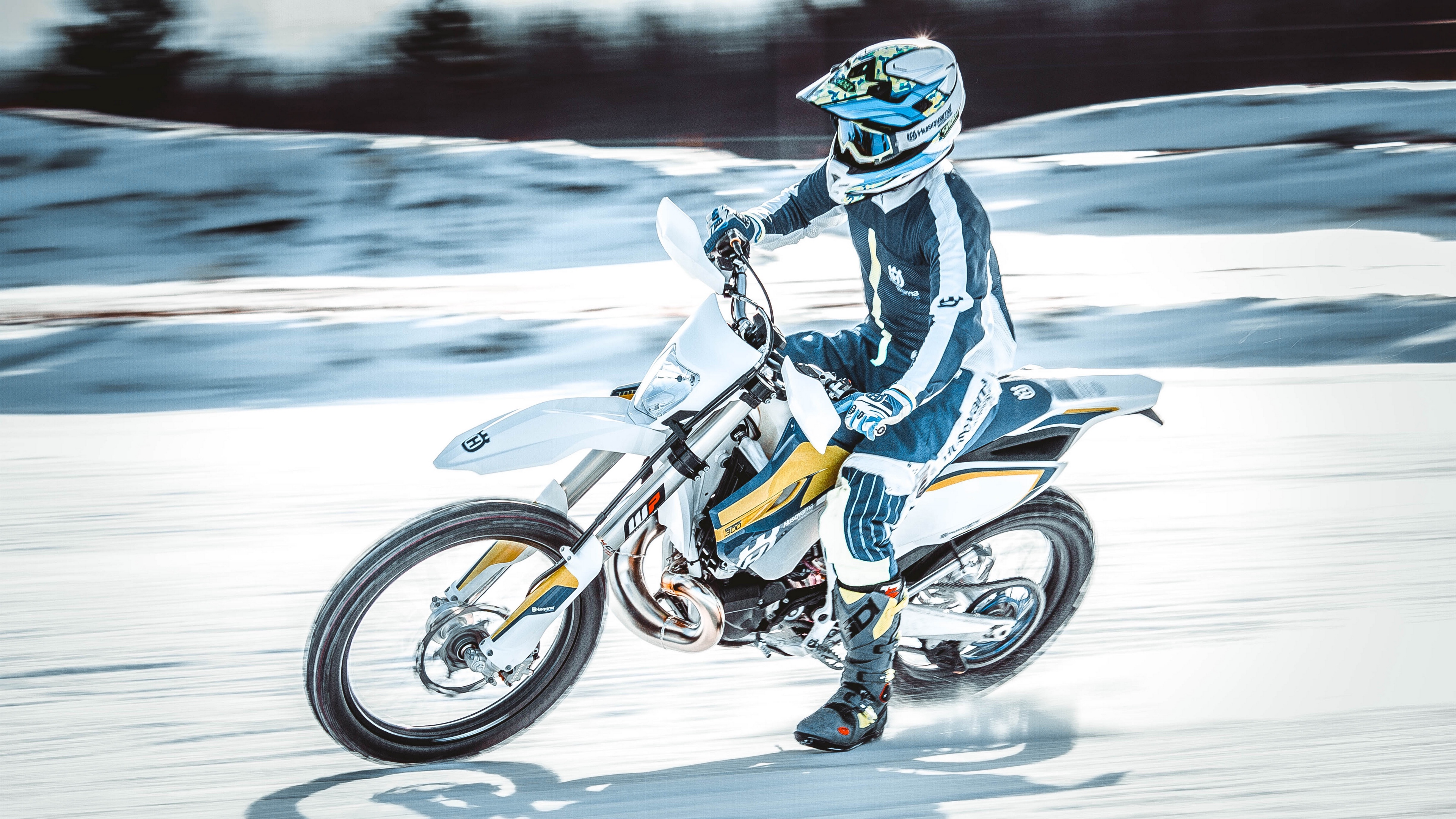 motorcyclist speed snow 4k 1536018377 - motorcyclist, speed, snow 4k - speed, Snow, motorcyclist