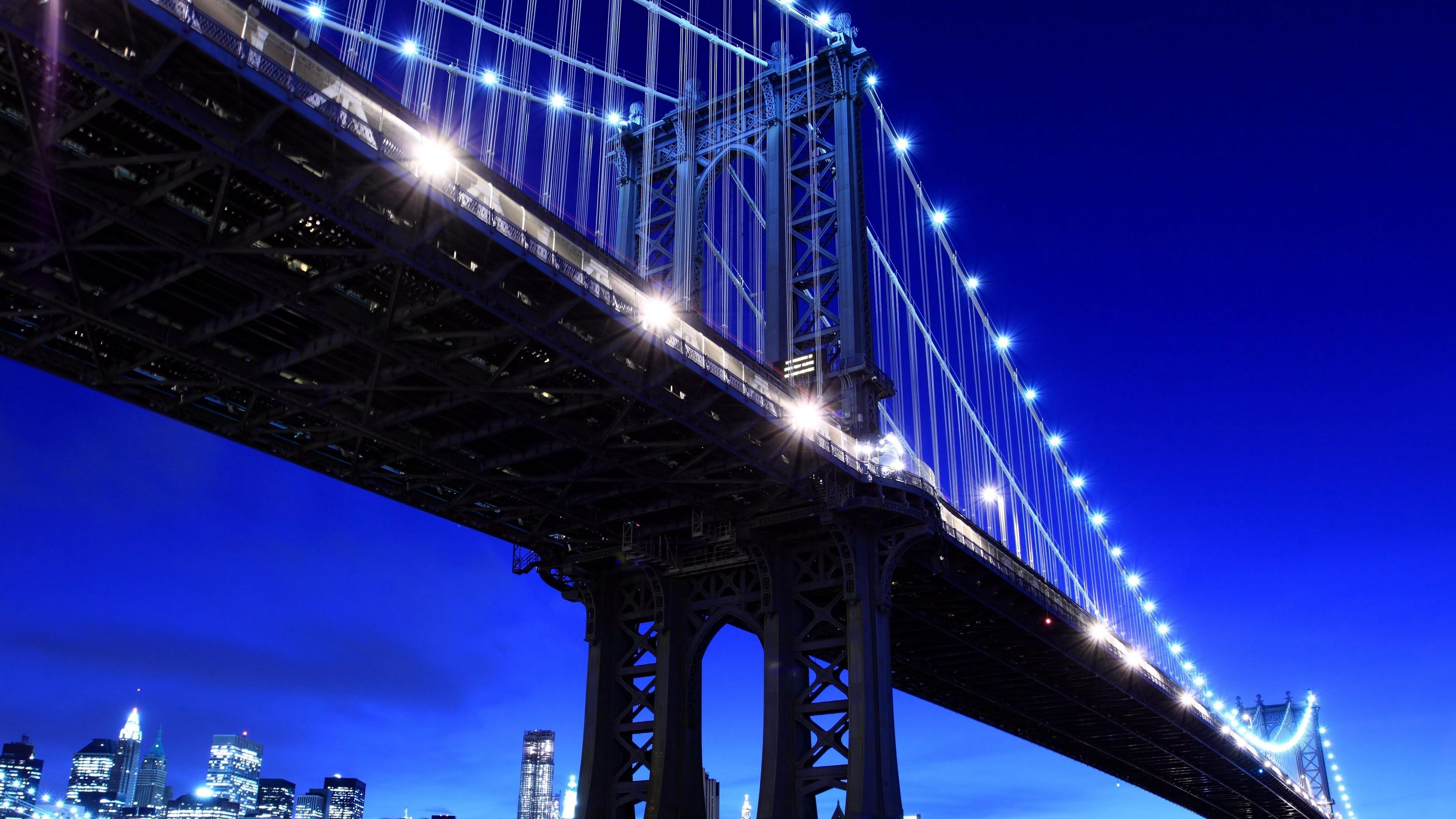 new york brooklyn bridge metropolis night usa 4k 1538065164 - new york, brooklyn bridge, metropolis, night, usa 4k - new york, metropolis, brooklyn bridge