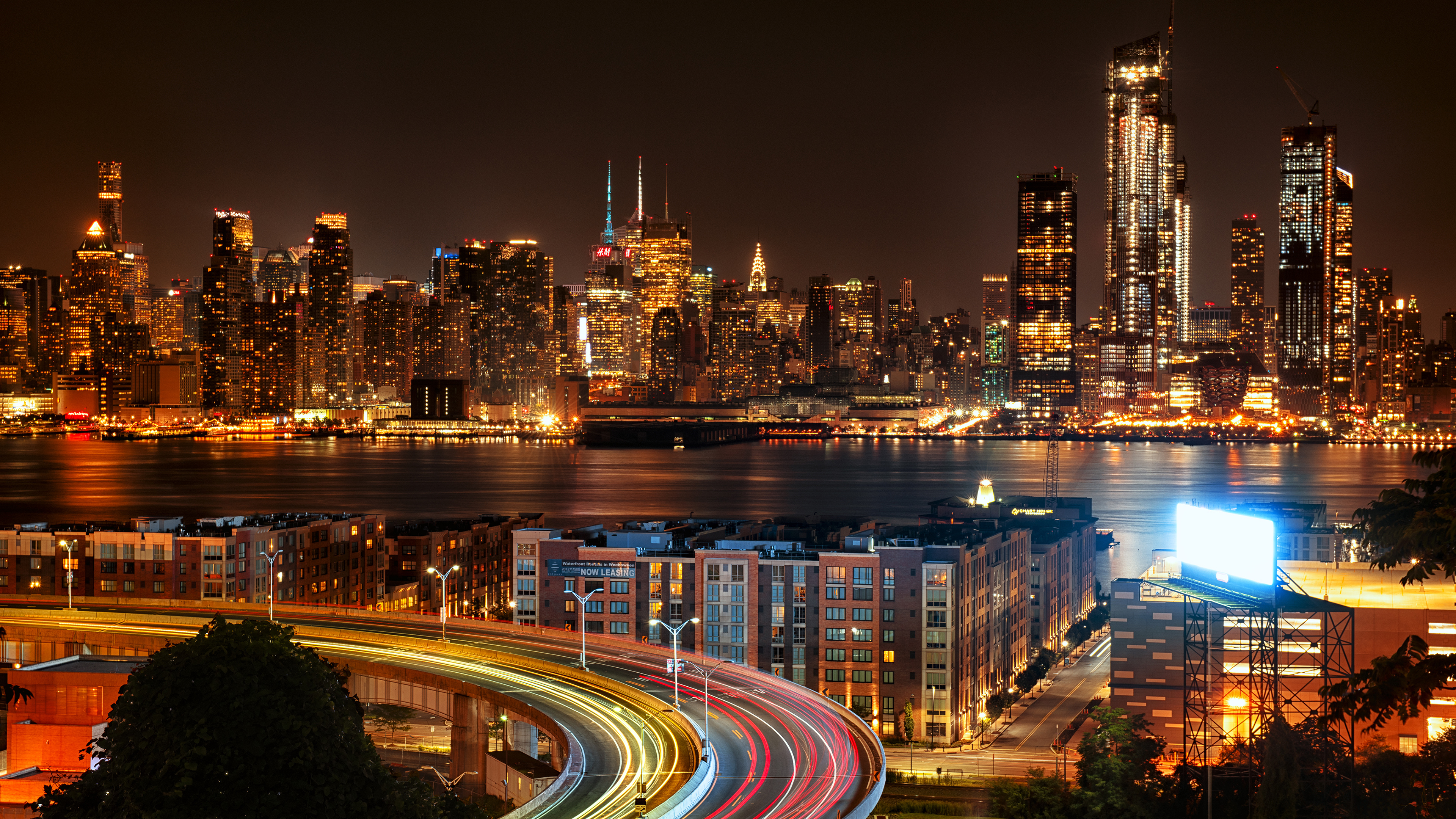 Wallpaper 4k New York City View From New Jersey 4k At Night