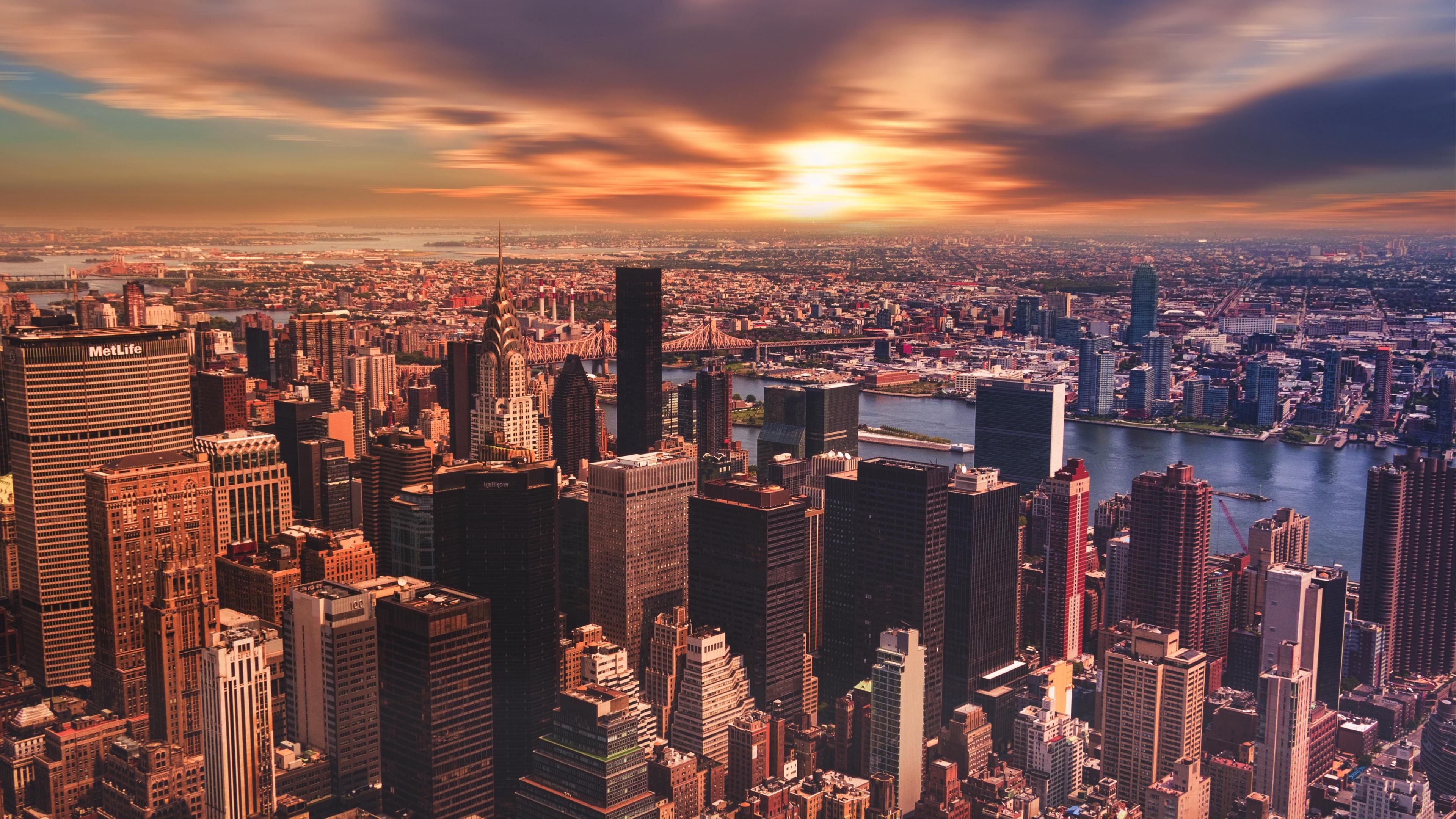 new york skyscrapers sunset metropolis 4k 1538067517 - new york, skyscrapers, sunset, metropolis 4k - sunset, Skyscrapers, new york