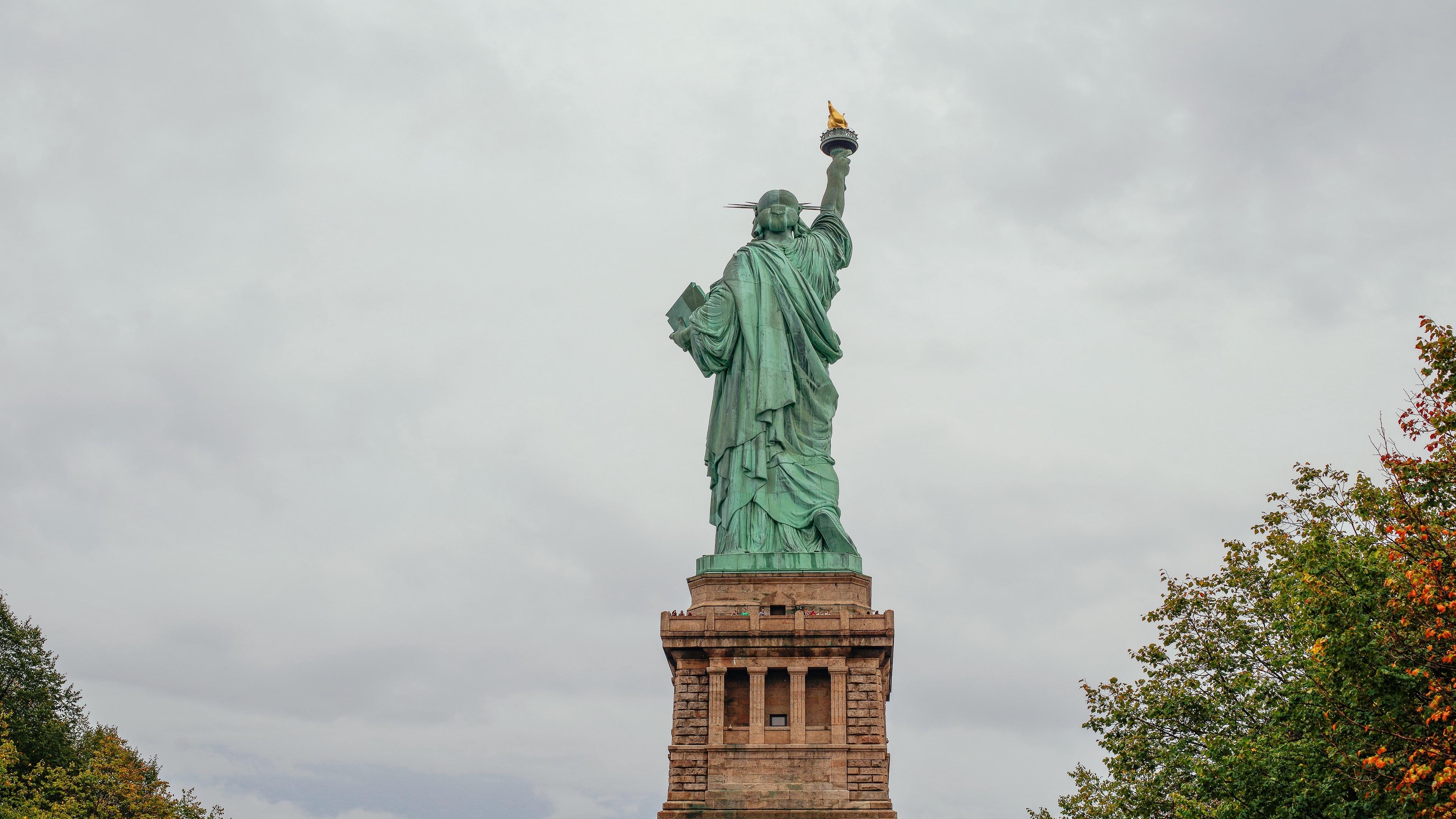 Wallpaper 4k New York Statue Of Liberty Sculpture 4k New