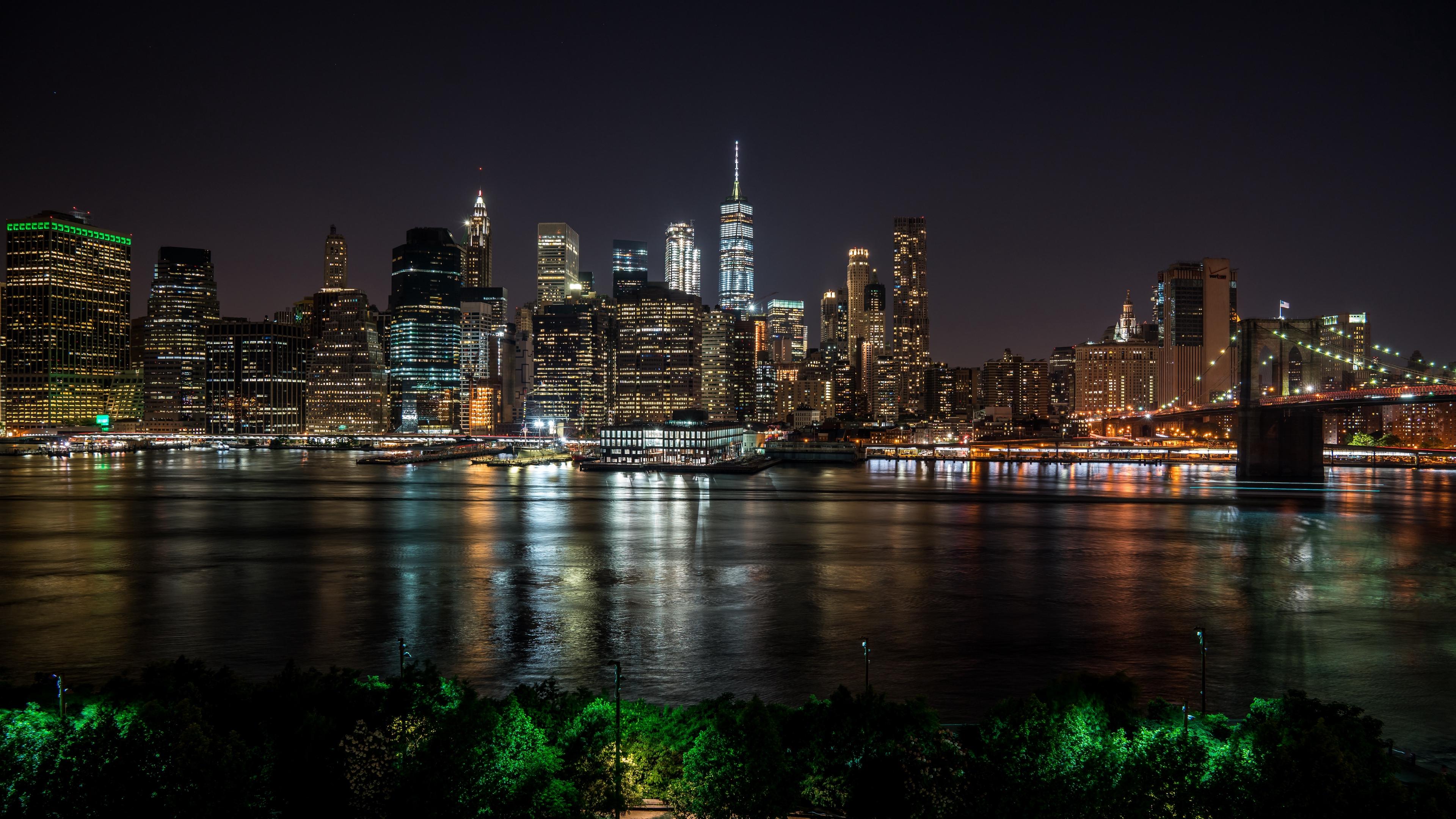 new york usa night city panorama skyscrapers 4k 1538067608 - new york, usa, night city, panorama, skyscrapers 4k - USA, night city, new york