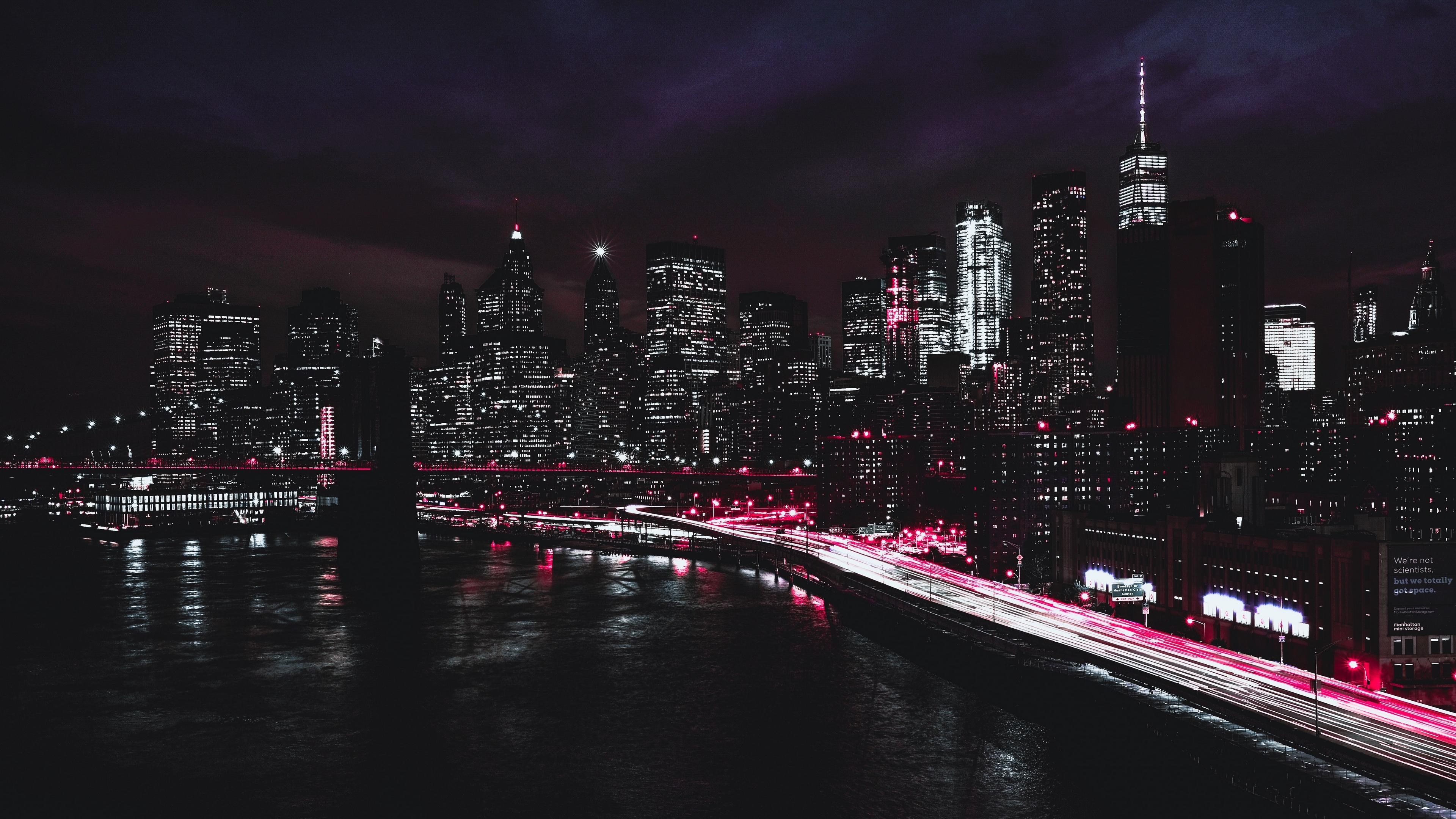 new york usa night skyscrapers 4k 1538068860 - new york, usa, night, skyscrapers 4k - USA, Night, new york