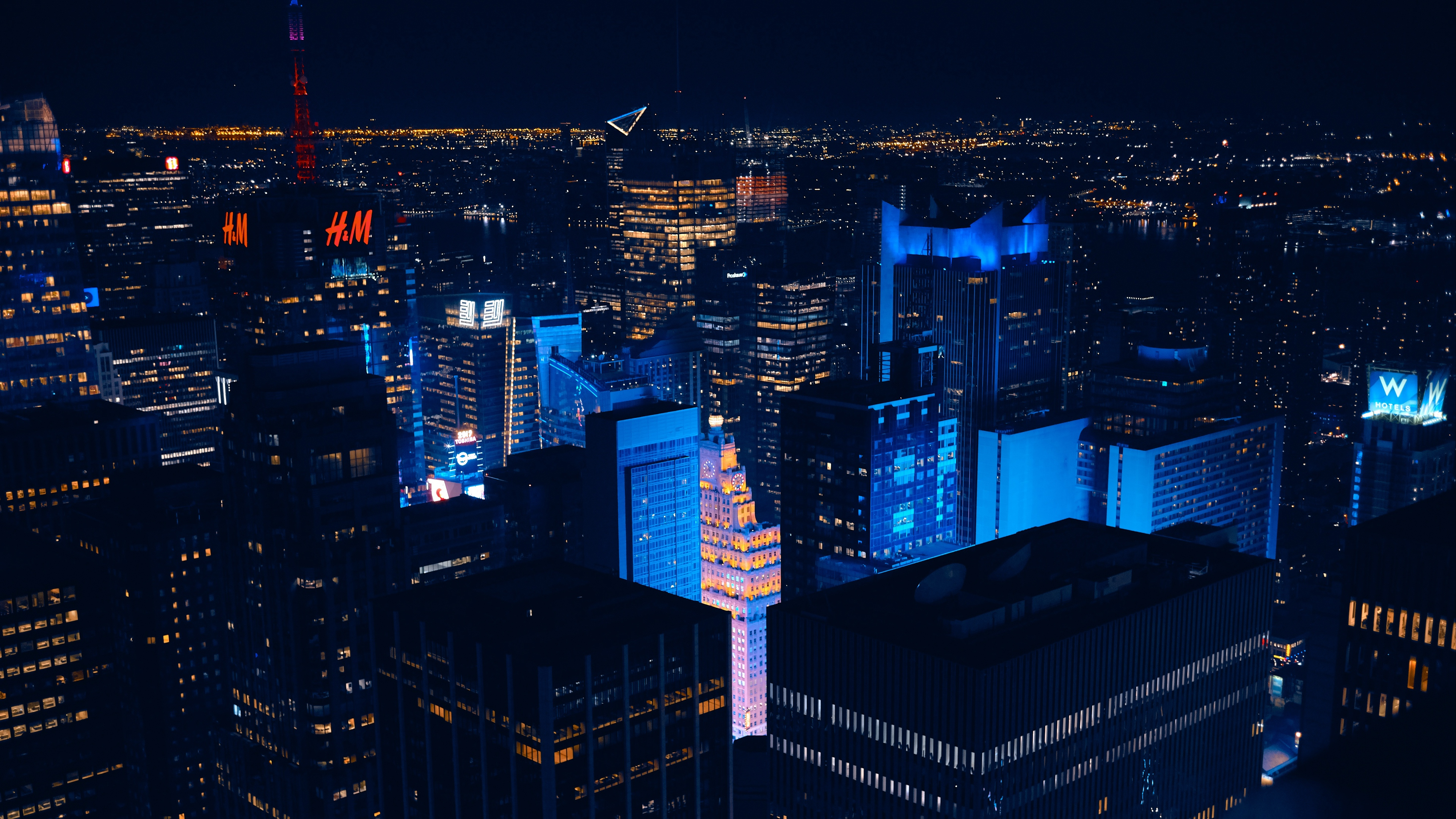 new york usa skyscrapers night 4k 1538065149 - new york, usa, skyscrapers, night 4k - USA, Skyscrapers, new york