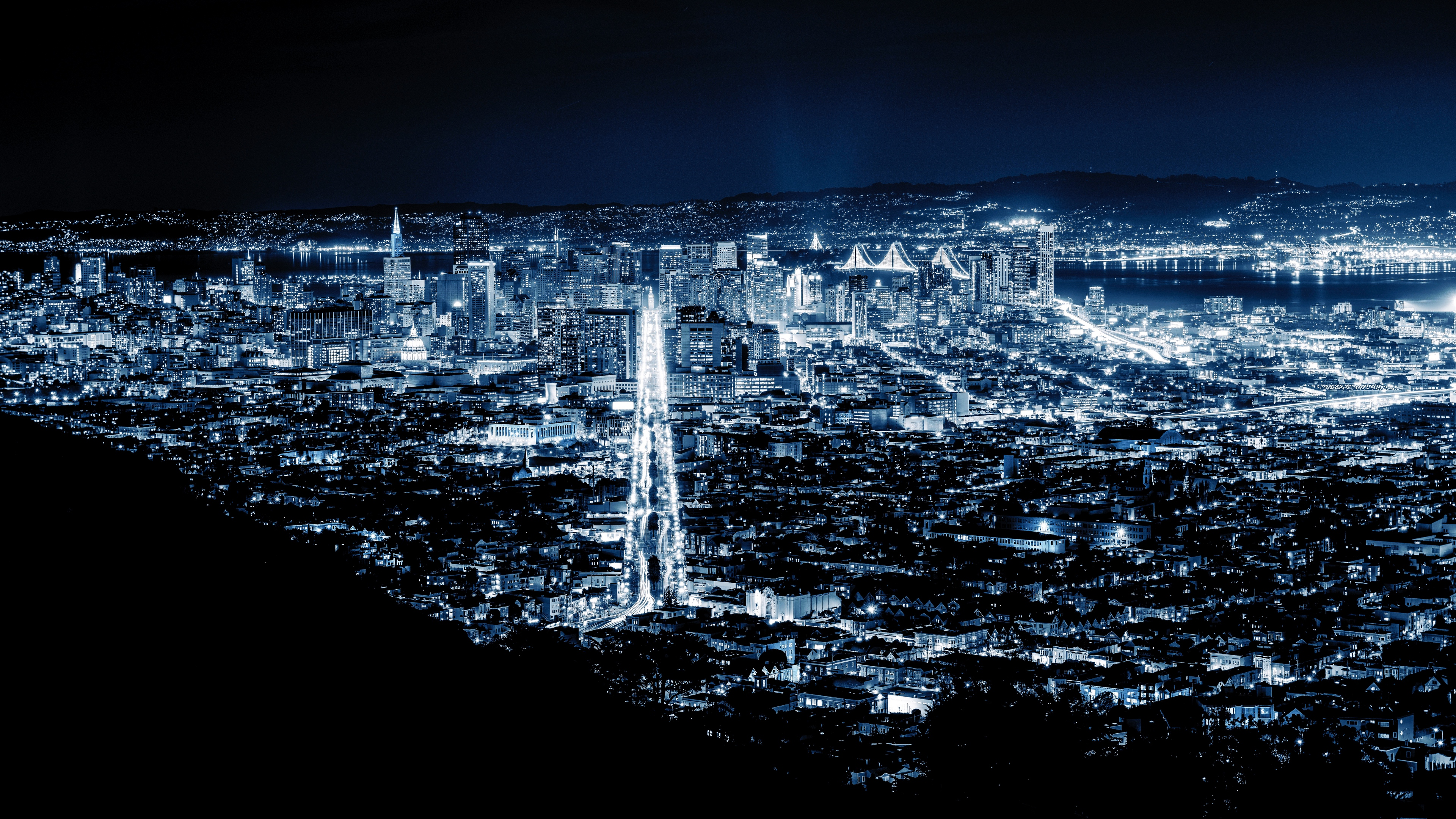 night city city lights san francisco united states 4k 1538067566 - night city, city lights, san francisco, united states 4k - san francisco, night city, city lights