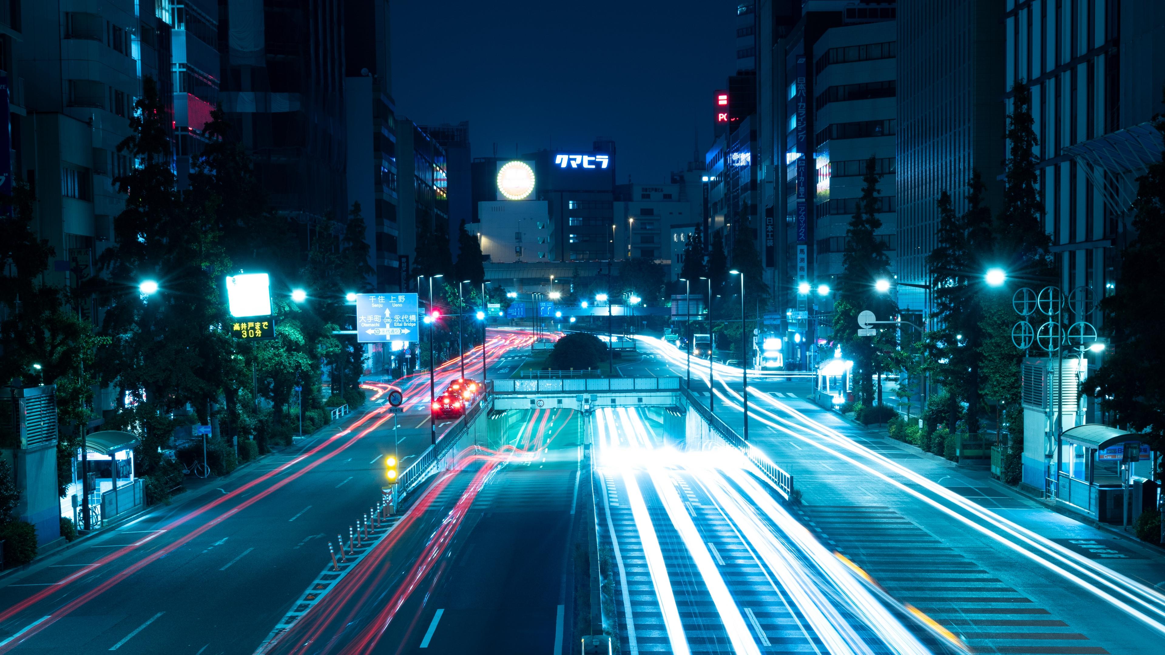 night city road light city lights tokyo japan 4k 1538066302 - night city, road, light, city lights, tokyo, japan 4k - Road, night city, Light