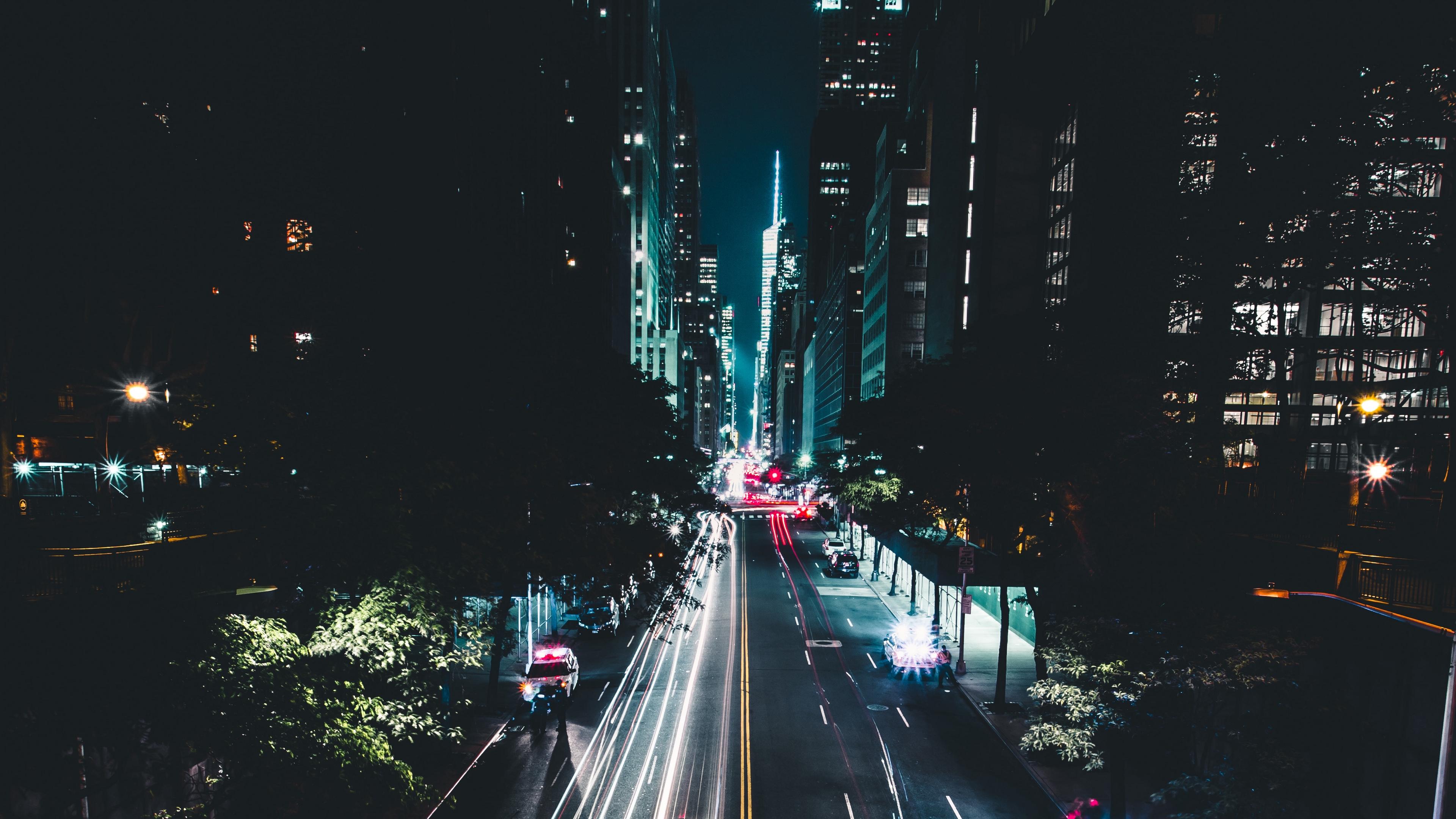night city road traffic cars marking new york usa 4k 1538066305 - night city, road, traffic, cars, marking, new york, usa 4k - Traffic, Road, night city