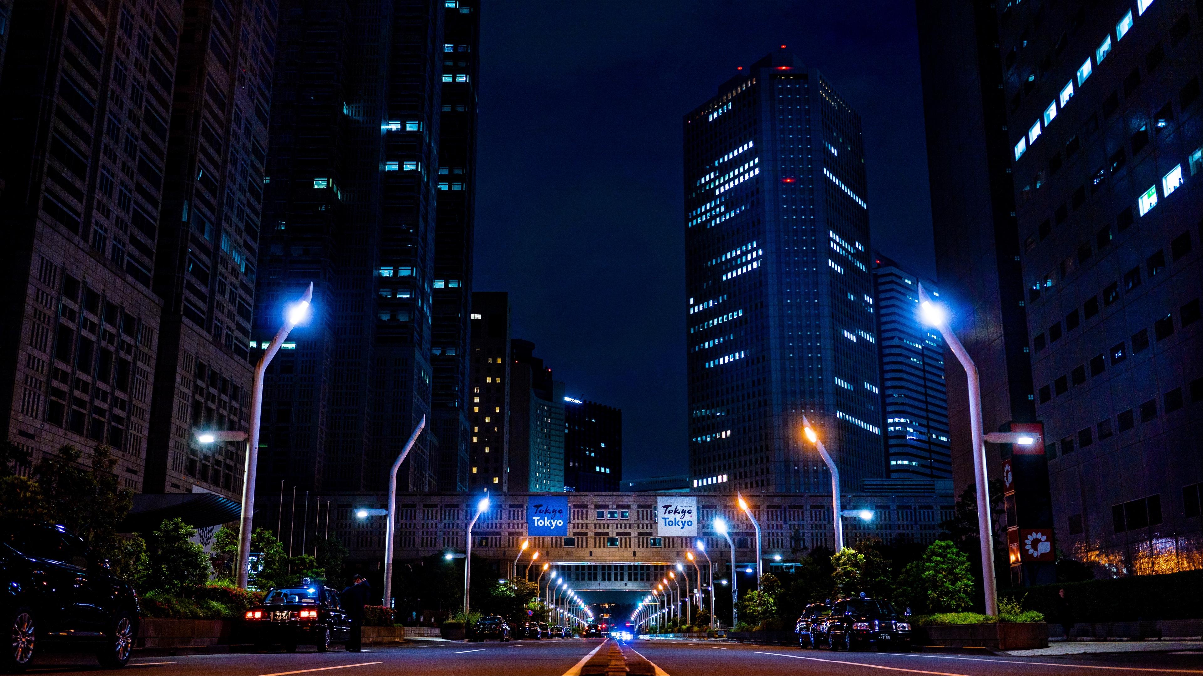 night city skyscrapers city lights bridge 4k 1538067945 - night city, skyscrapers, city lights, bridge 4k - Skyscrapers, night city, city lights