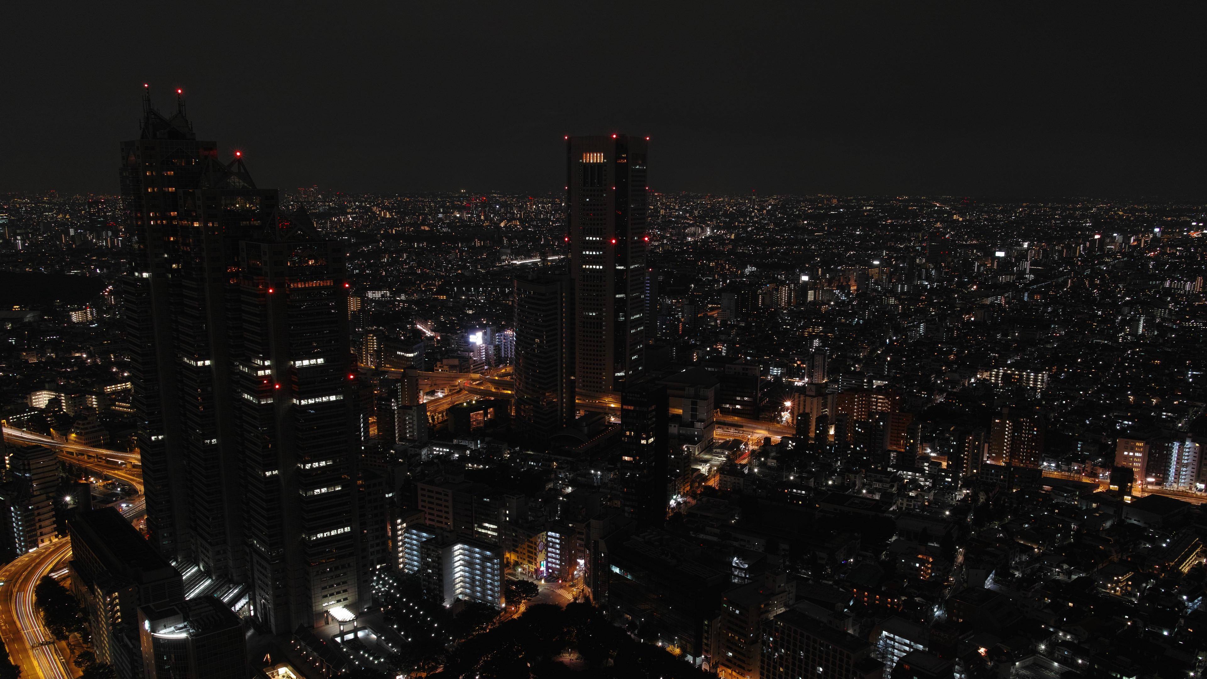 night city skyscrapers tokyo night 4k 1538068102 - night city, skyscrapers, tokyo, night 4k - Tokyo, Skyscrapers, night city