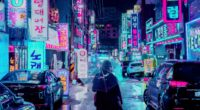 night city street umbrella man signboards lighting neon 4k 1538068839 200x110 - night city, street, umbrella, man, signboards, lighting, neon 4k - Umbrella, Street, night city