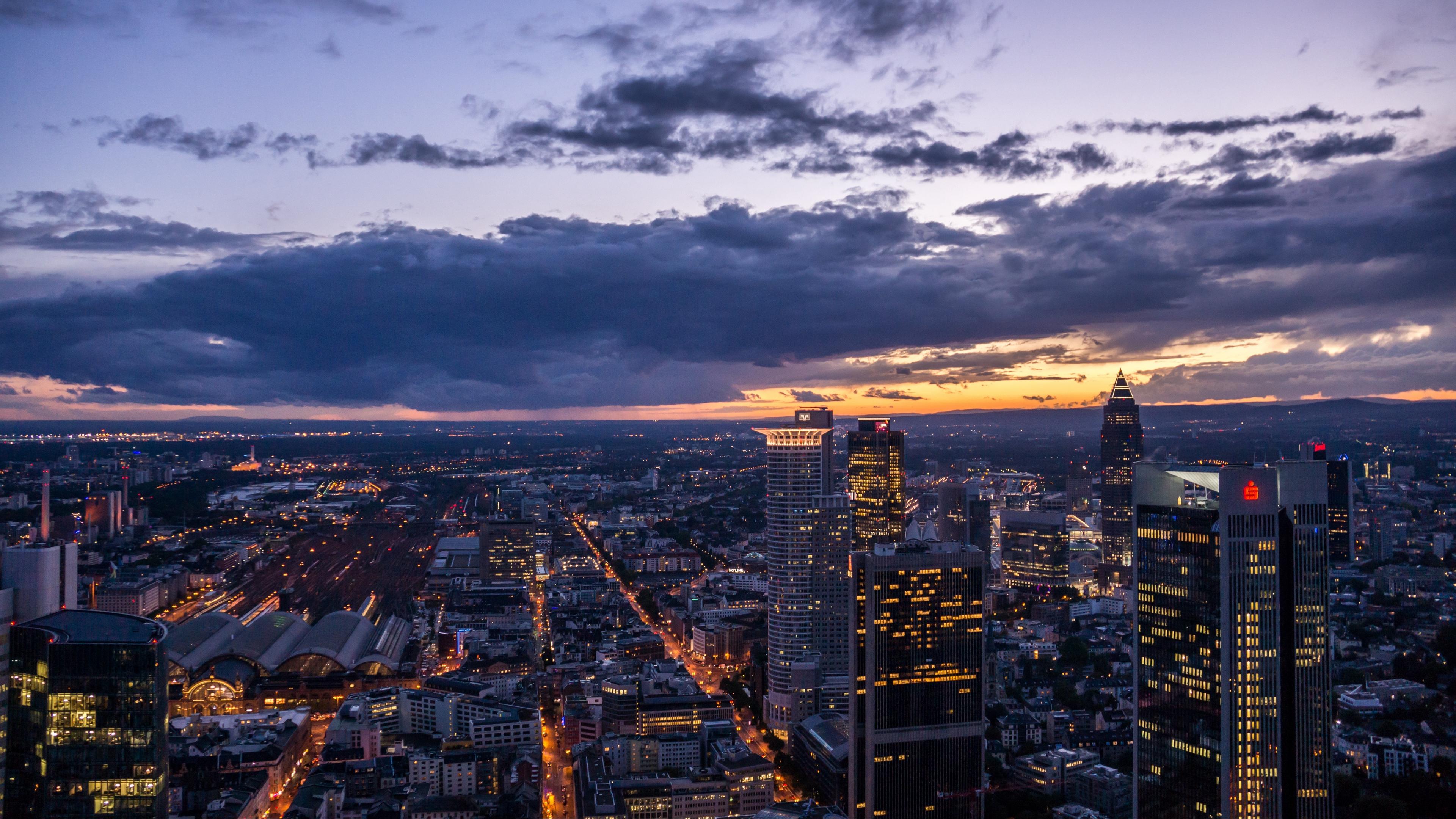 night city top view buildings 4k 1538065363 - night city, top view, buildings 4k - top view, night city, buildings