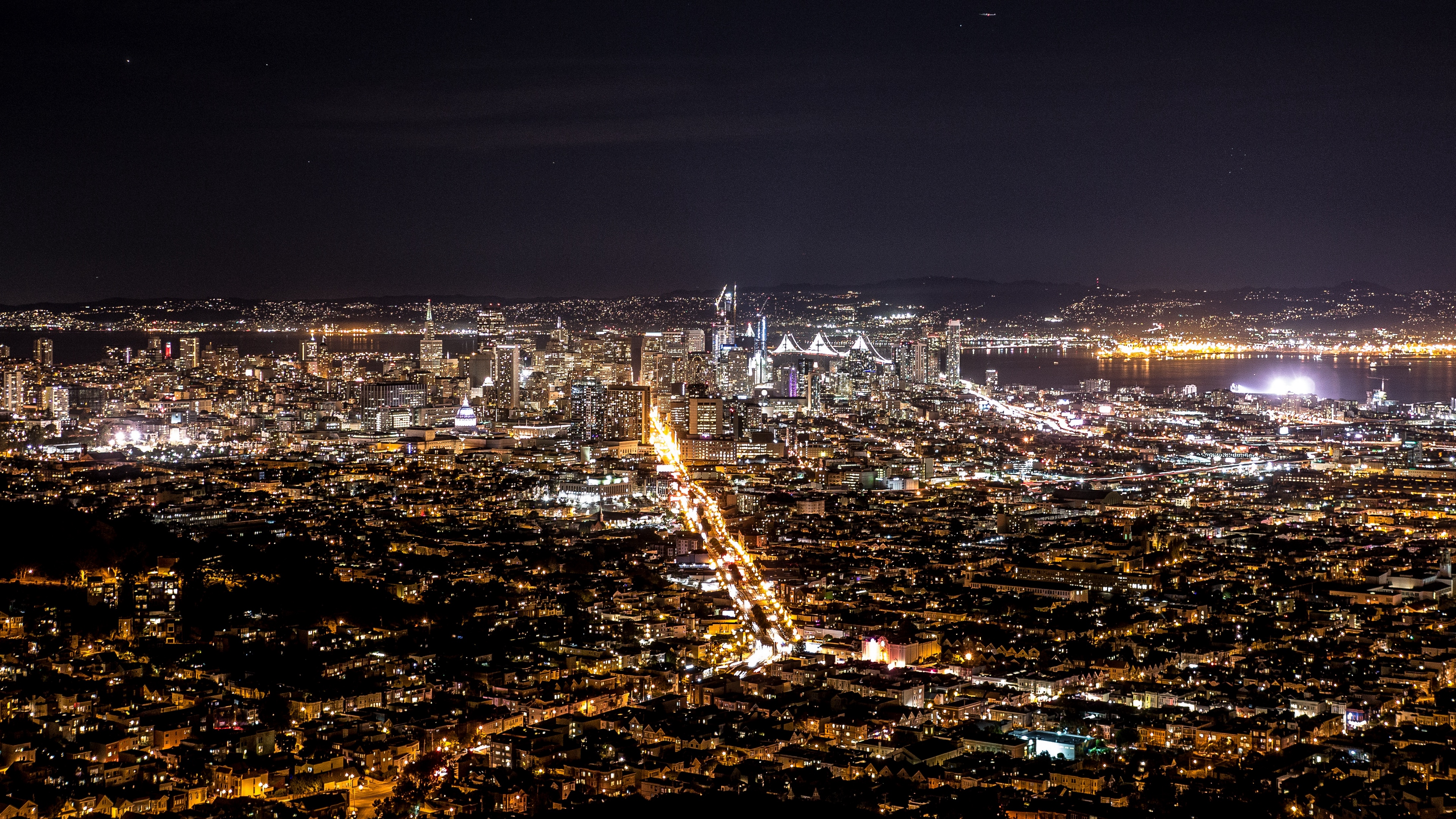 night city top view city lights 4k 1538065655 - night city, top view, city lights 4k - top view, night city, city lights