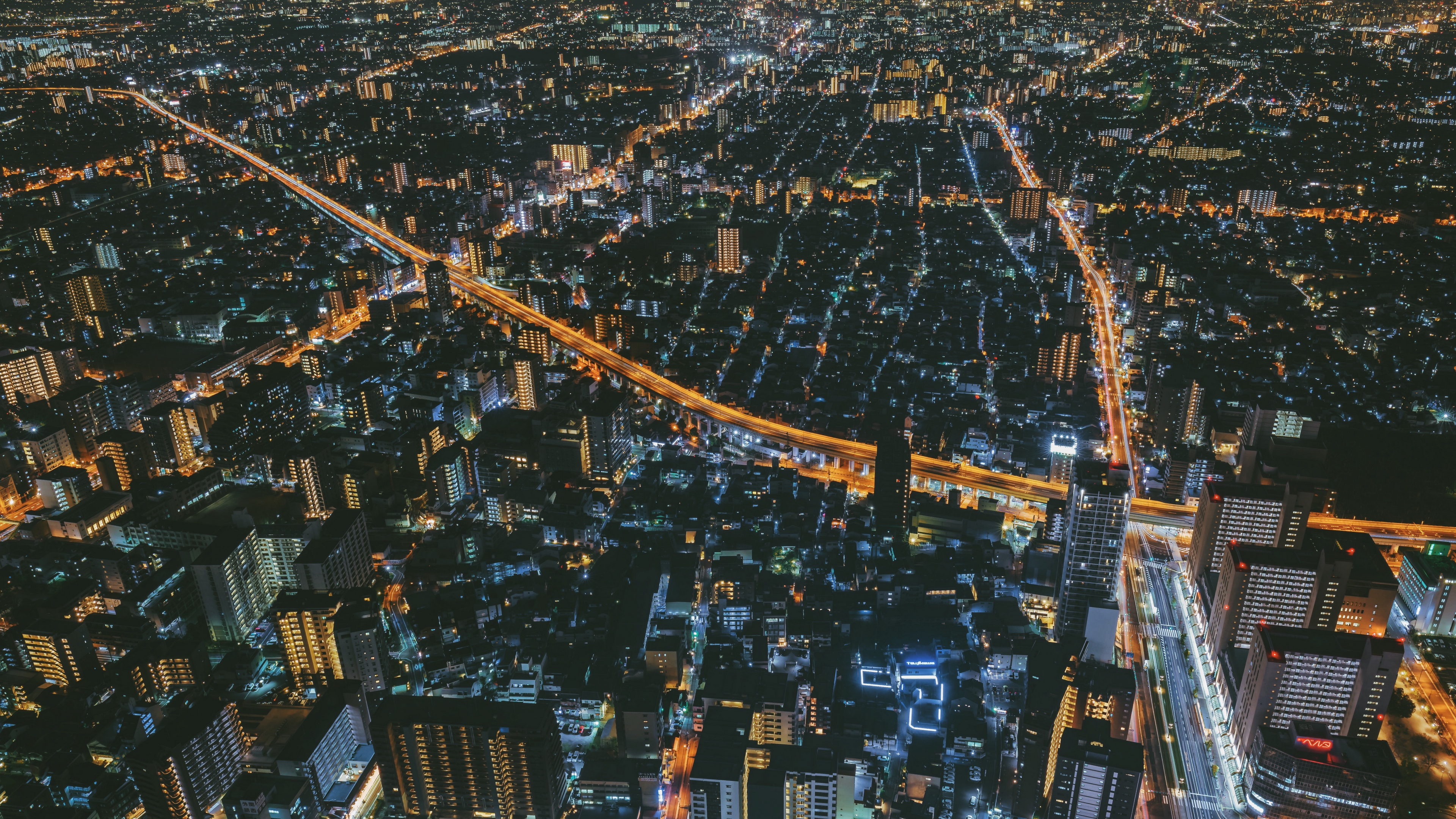 night city top view city lights osaka japan 4k 1538066220 - night city, top view, city lights, osaka, japan 4k - top view, night city, city lights