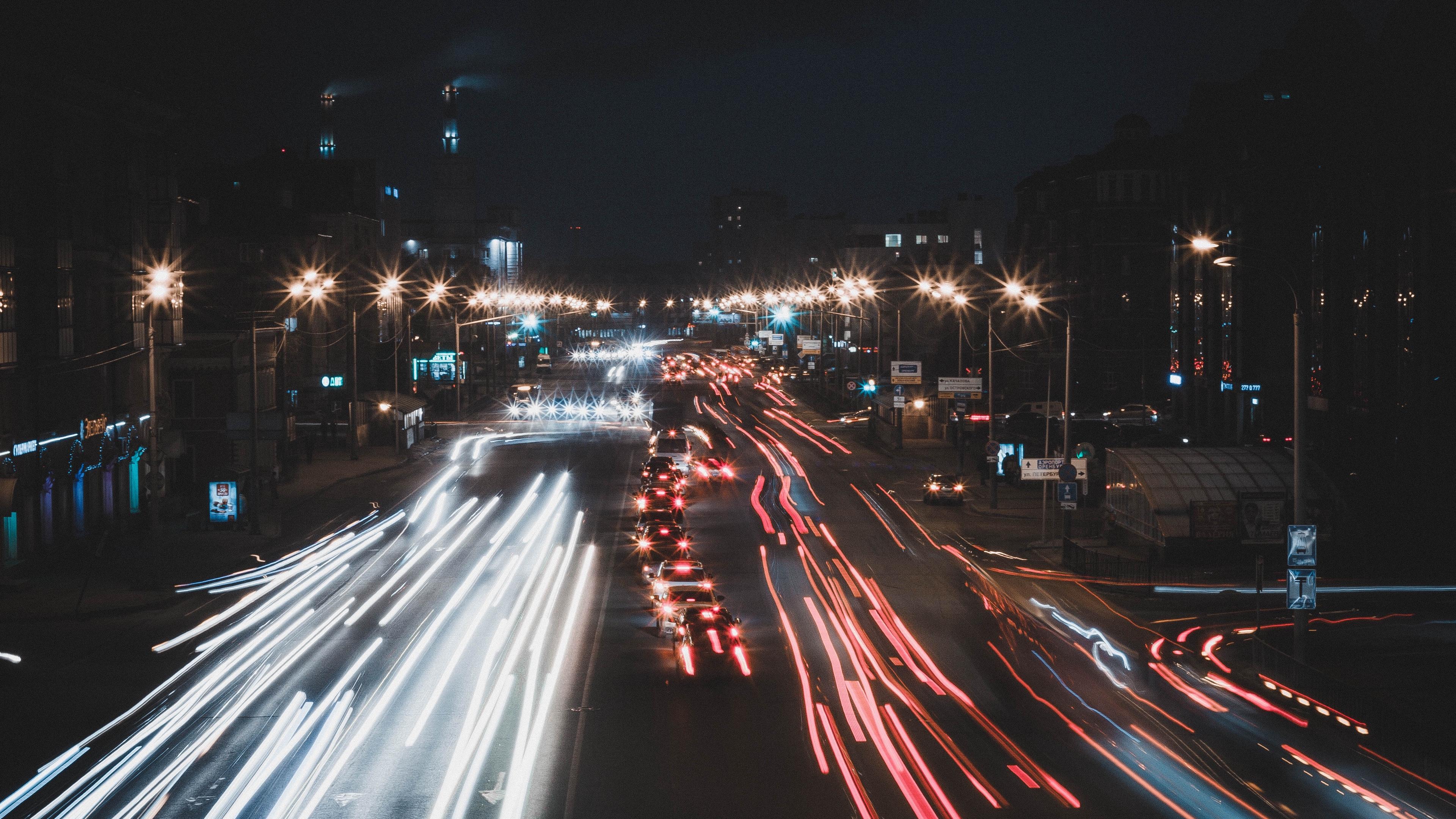 night city traffic road 4k 1538065062 - night city, traffic, road 4k - Traffic, Road, night city