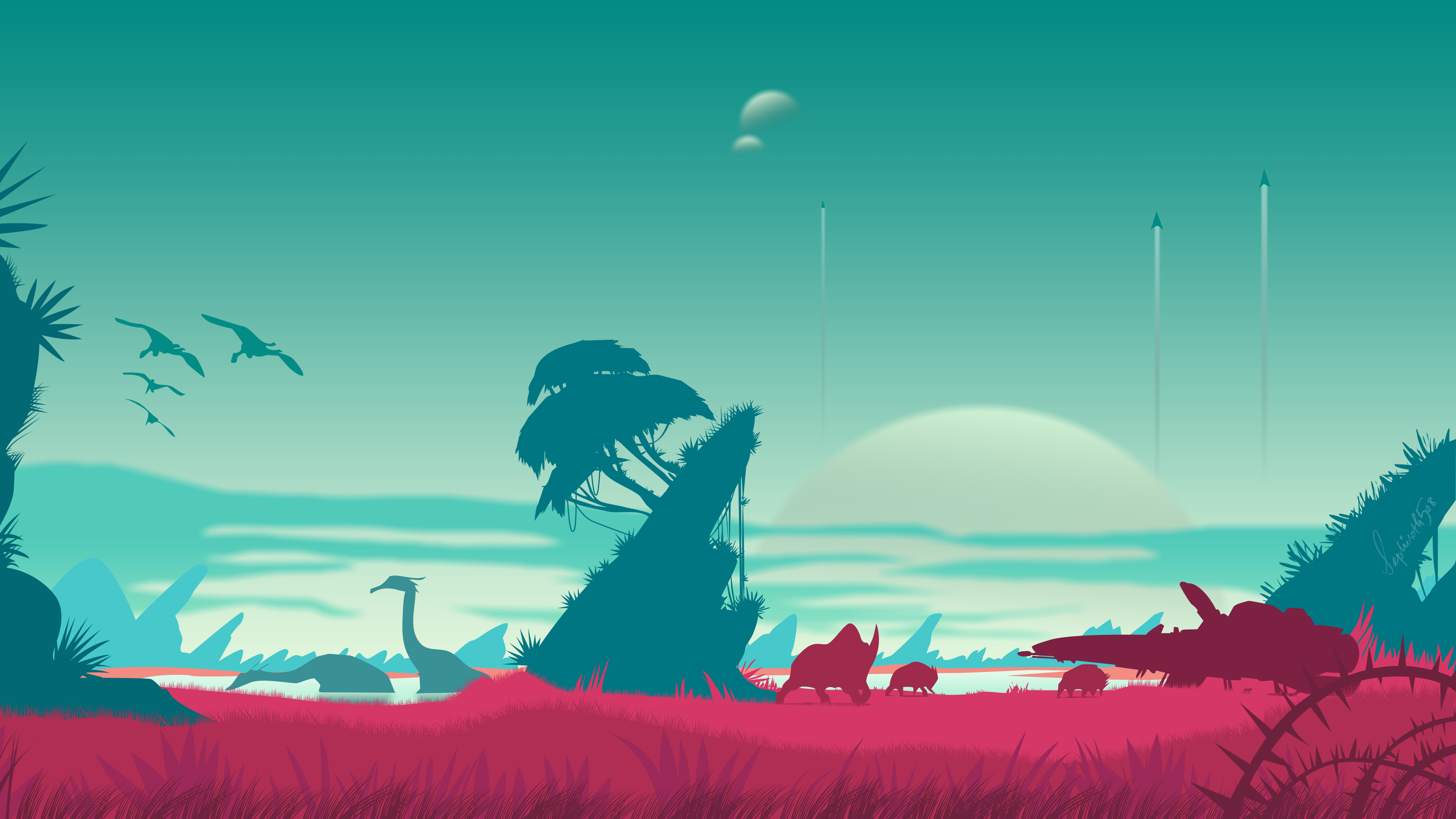 Wallpaper 4k No Mans Sky Vector Landscape 4k 2018 Games Wallpapers