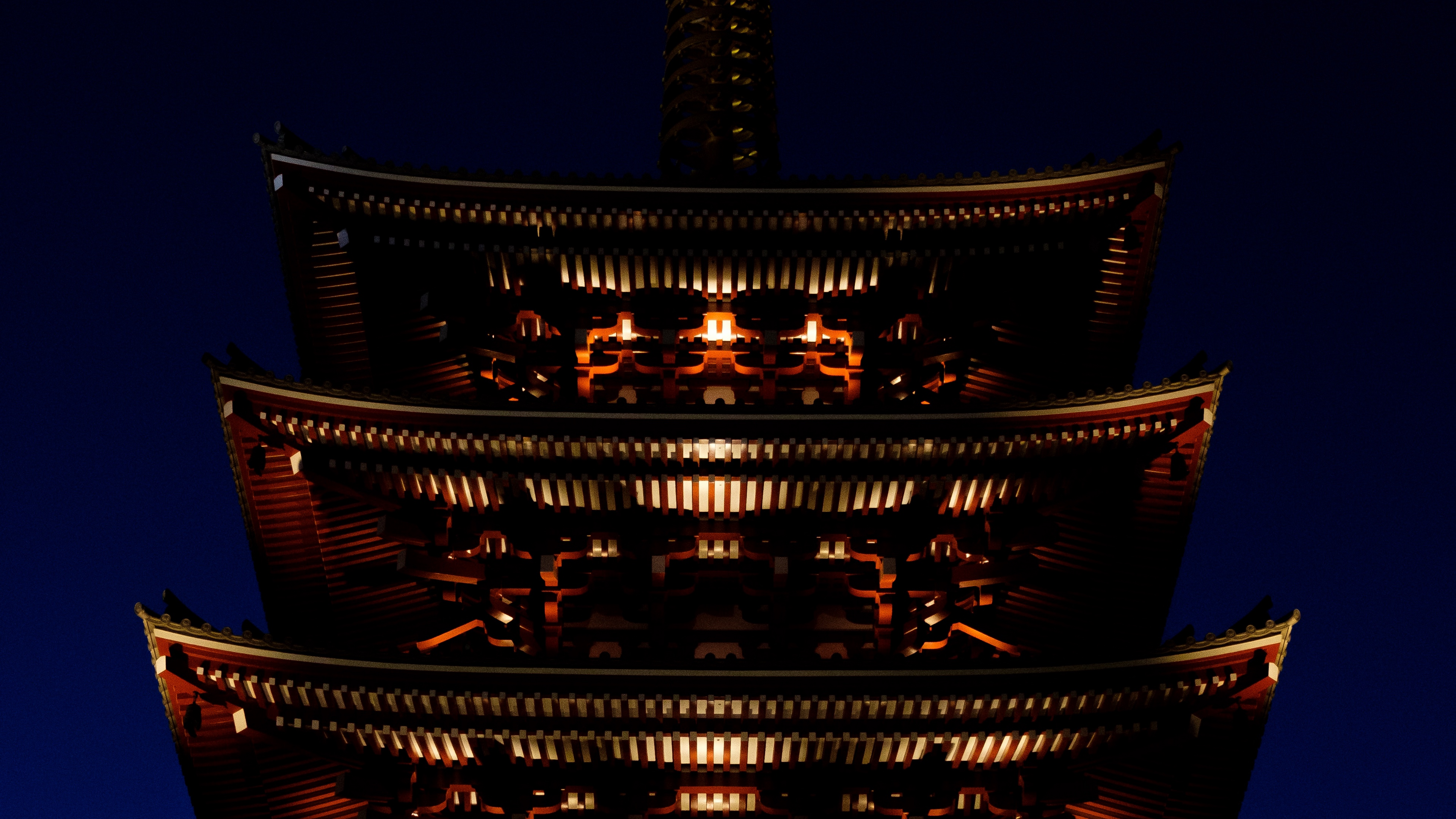 pagoda roof building night lighting 4k 1538066616 - pagoda, roof, building, night, lighting 4k - roof, pagoda, Building