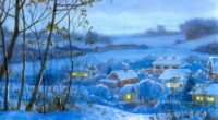 painting winter village home night month snow 4k 1536098904 200x110 - painting, winter, village, home, night, month, snow 4k - Winter, village, Painting