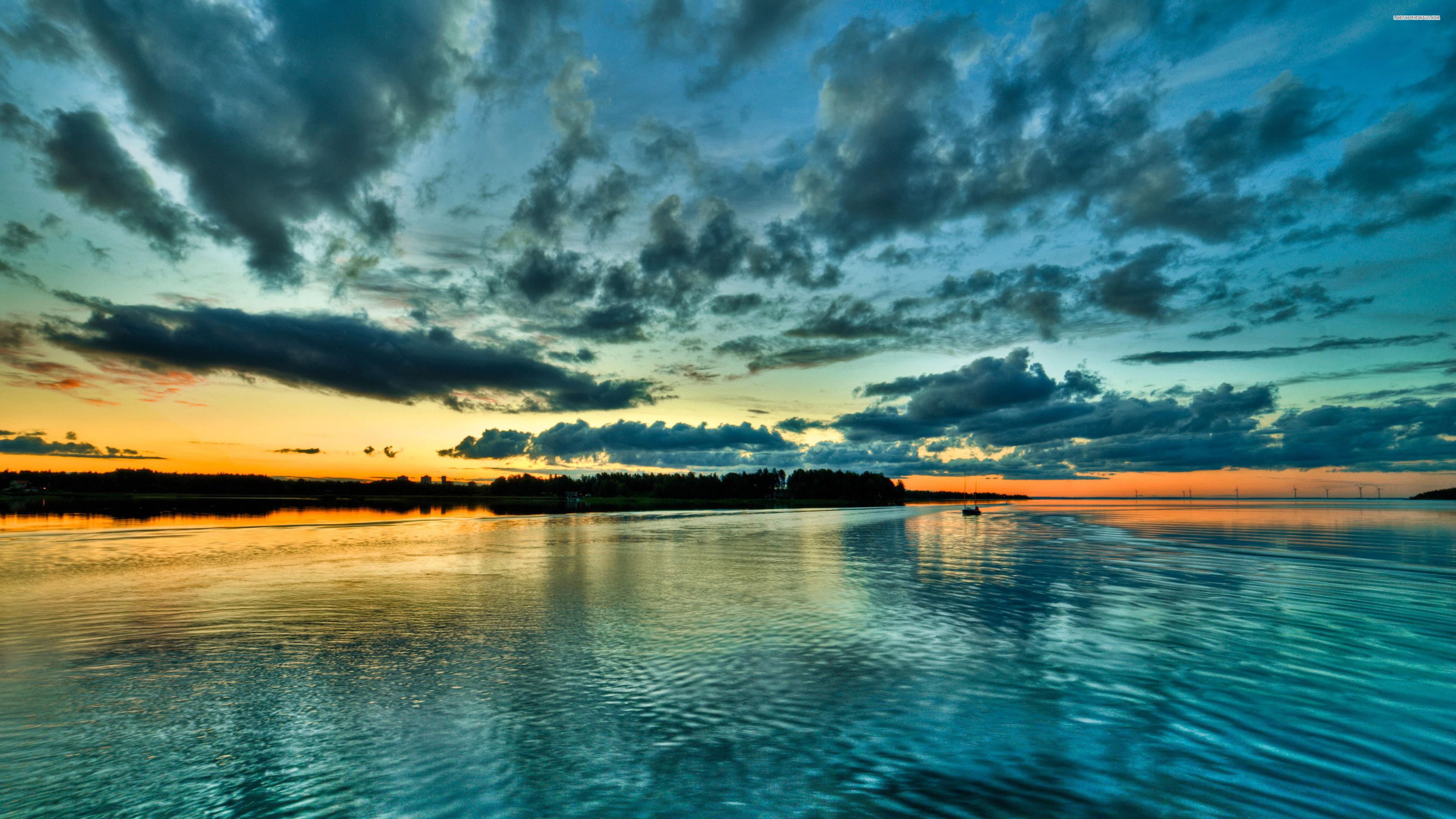 Wallpaper 4k Perfect Blue Sunset Blue Wallpapers Nature Wallpapers Sky Wallpapers Sunset Wallpapers Water Wallpapers