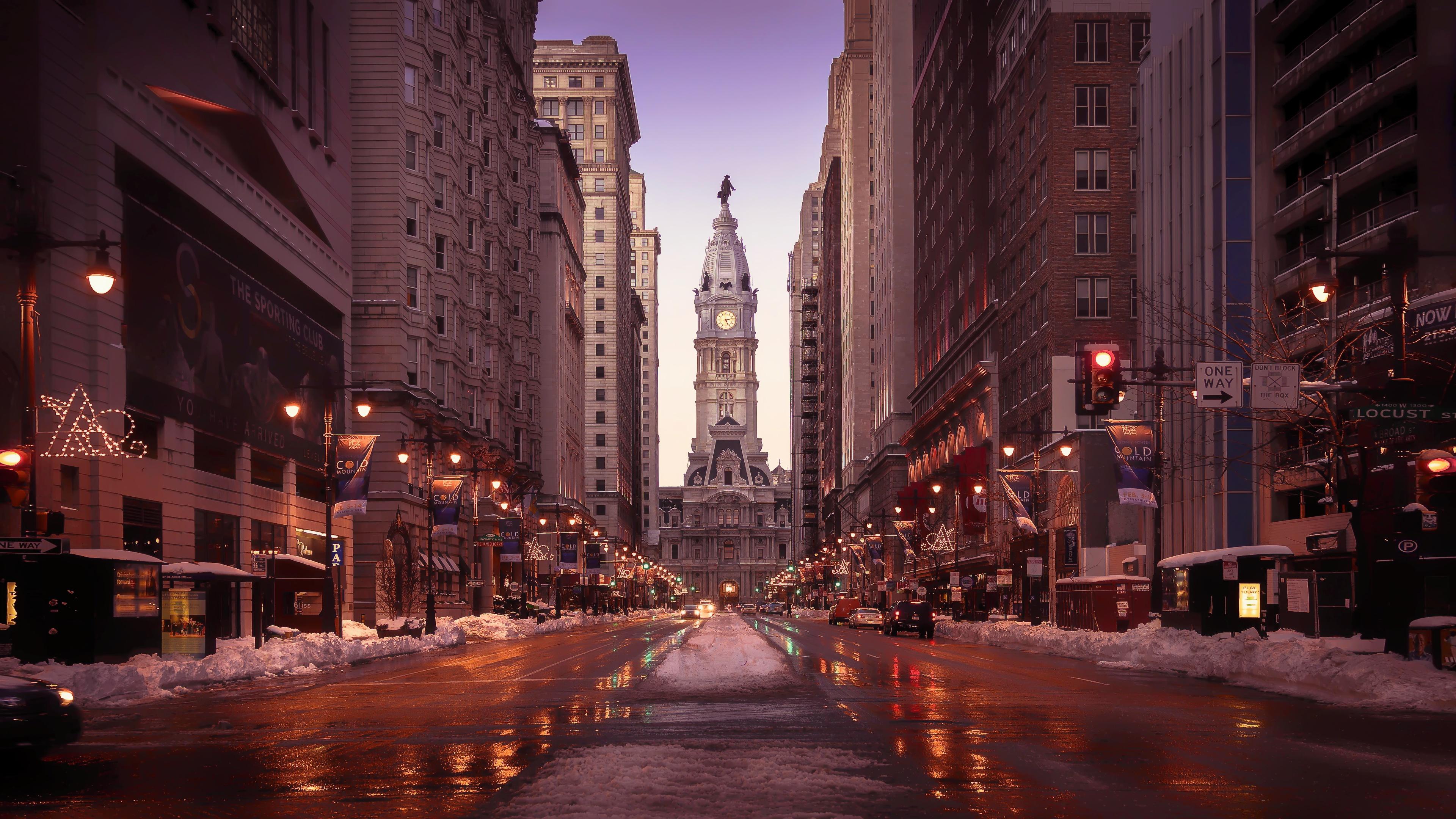 philadelphia streets tall buildings road snow 1538069539 - Philadelphia Streets Tall Buildings Road Snow - world wallpapers, street wallpapers, snow wallpapers, hd-wallpapers, buildings wallpapers, 4k-wallpapers