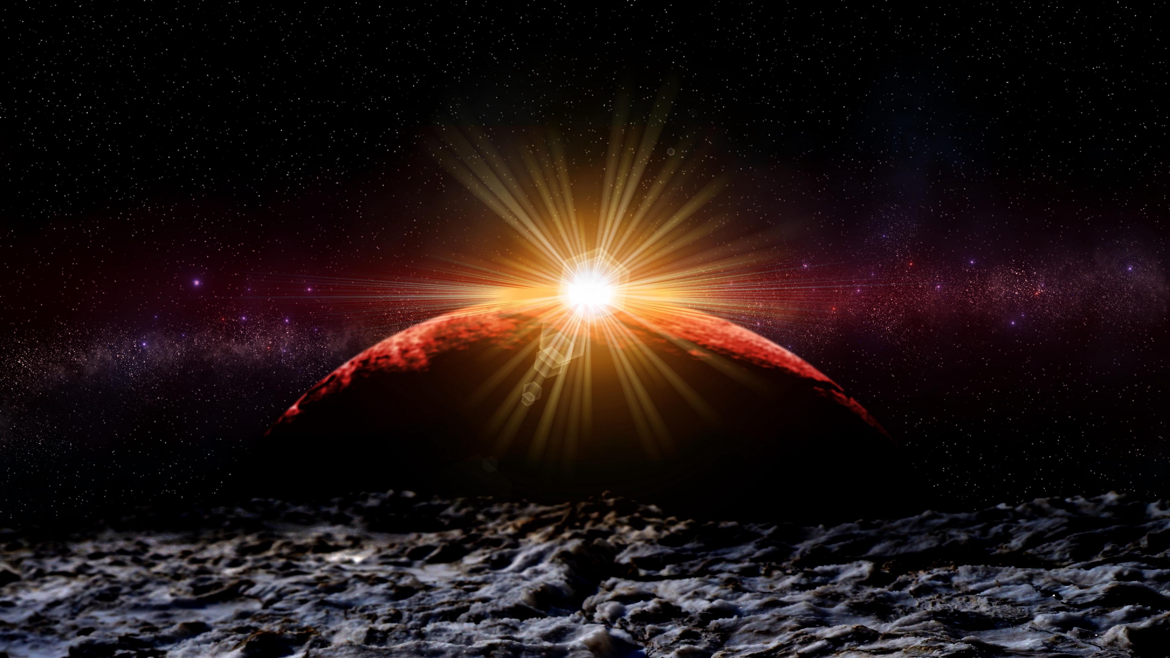 planet eclipse photoshop stars galaxy universe 4k 1536016182 - planet, eclipse, photoshop, stars, galaxy, universe 4k - Planet, photoshop, Eclipse