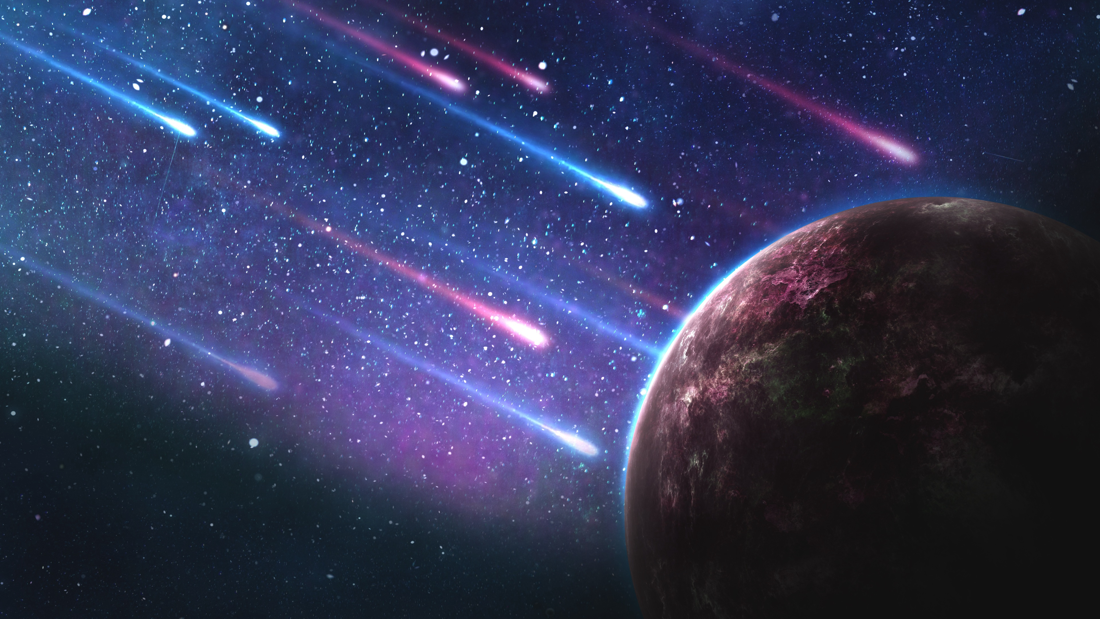 planet meteorites space galaxy 4k 1536016630 - planet, meteorites, space, galaxy 4k - Space, Planet, Meteorites