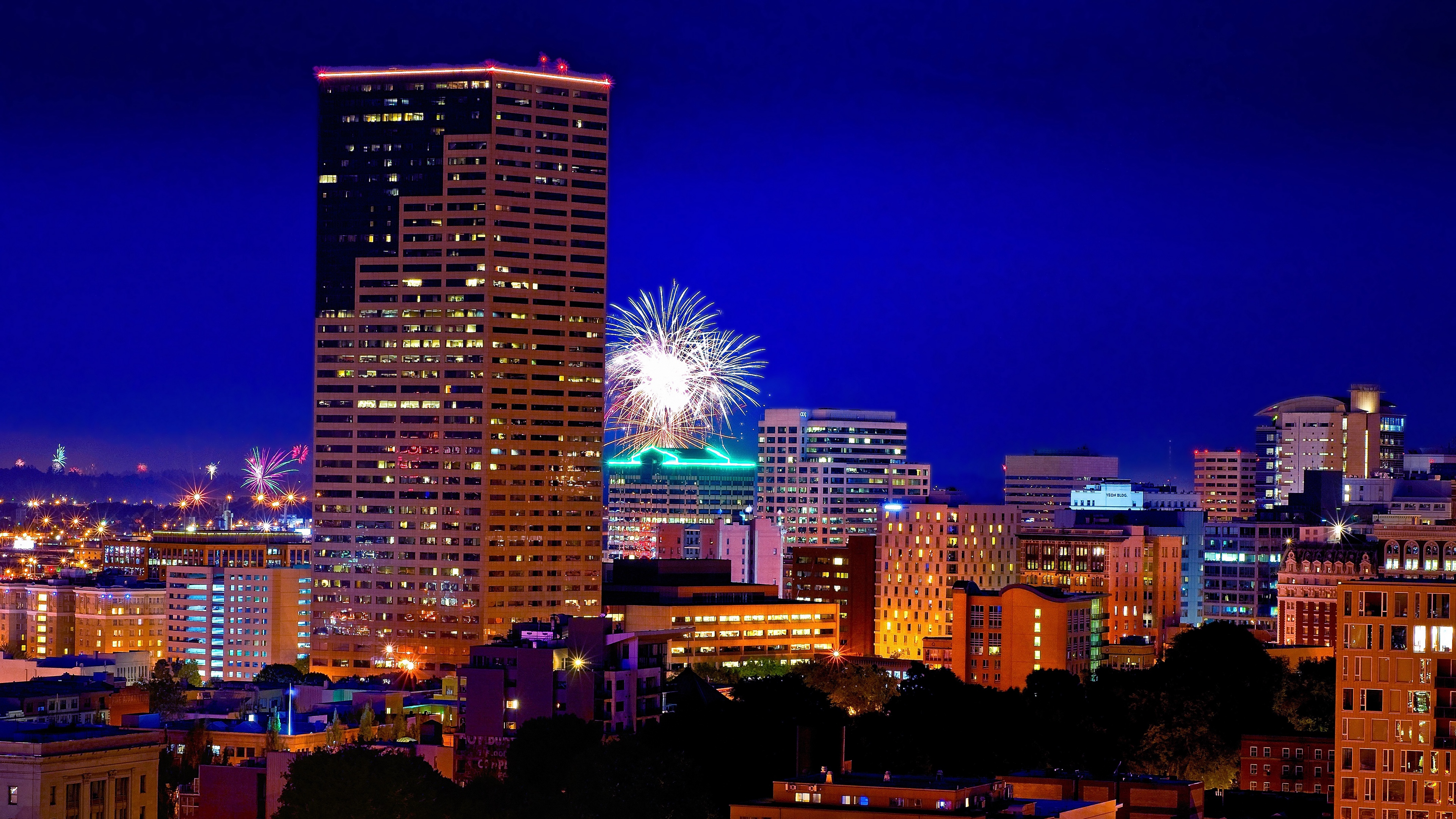 portland oregon night city fireworks 4k 1538067247 - portland, oregon, night city, fireworks 4k - Portland, Oregon, night city