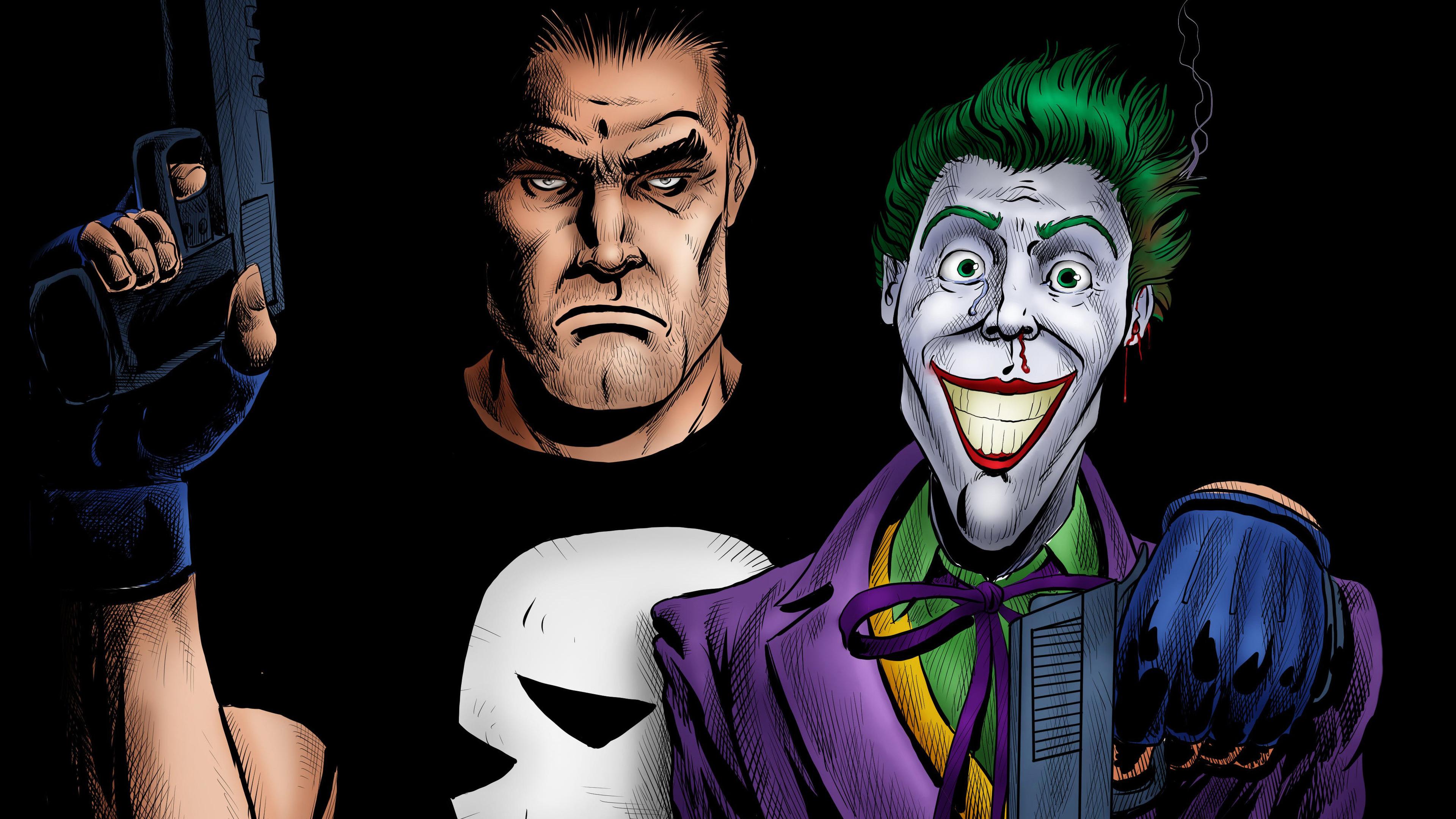 punisher and joker artwork 4k 1536520313 - Punisher And Joker Artwork 4k - punisher wallpapers, joker wallpapers, hd-wallpapers, artwork wallpapers, 4k-wallpapers