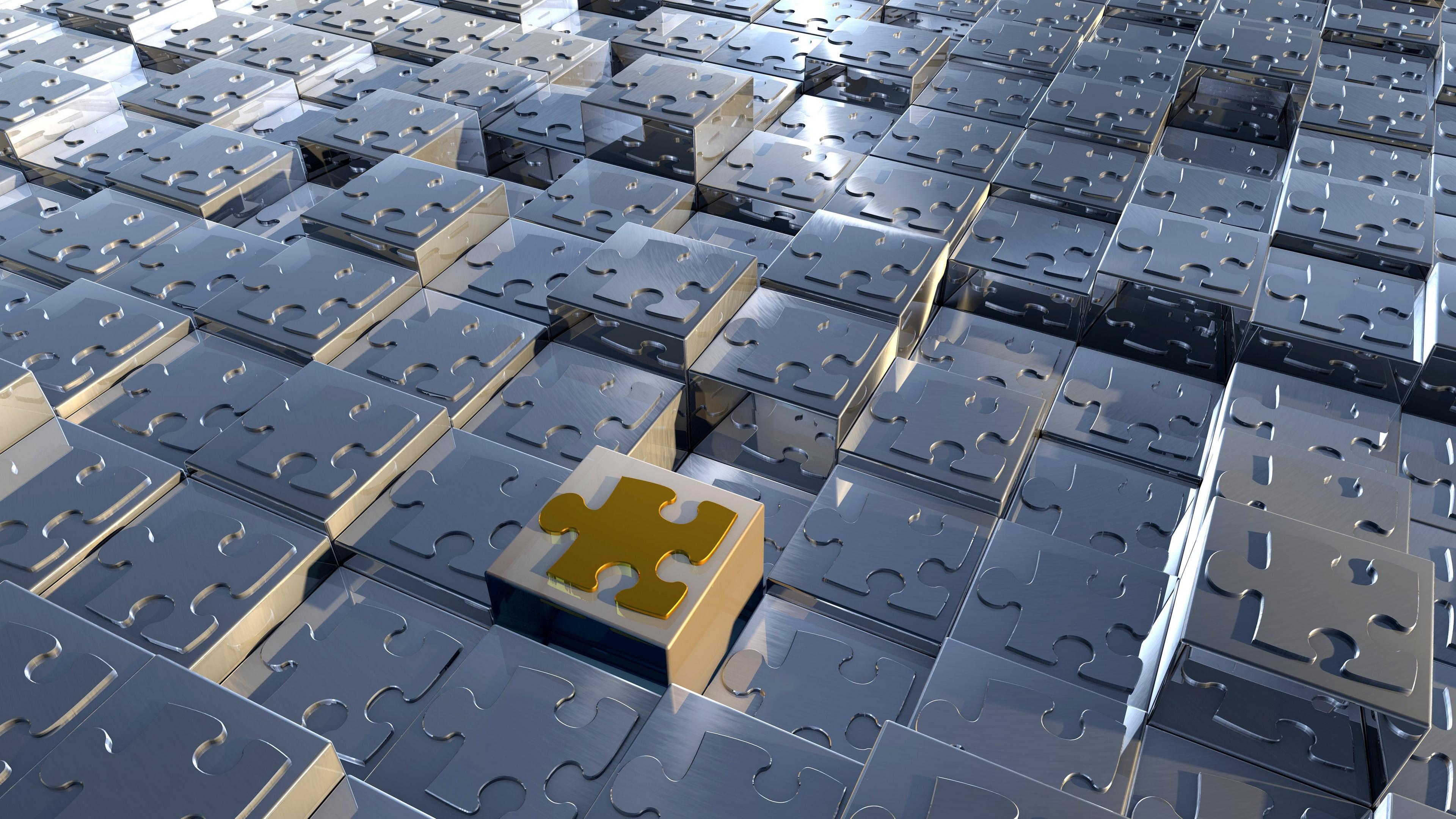 puzzles cubes metal 4k 1536854686 - puzzles, cubes, metal 4k - puzzles, Metal, Cubes