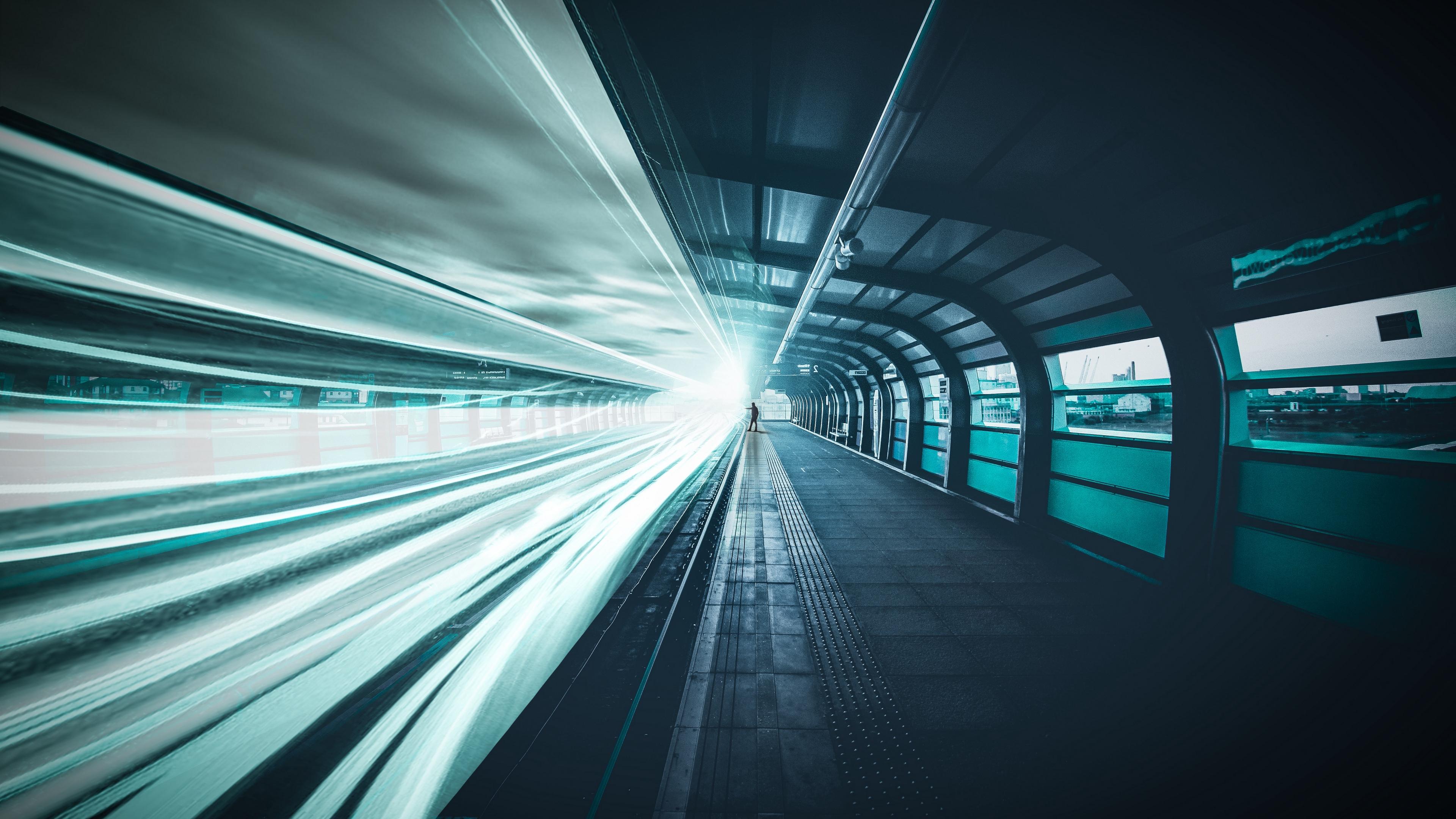 railroad underground man line light 4k 1538068877 - railroad, underground, man, line, light 4k - underground, railroad, Man