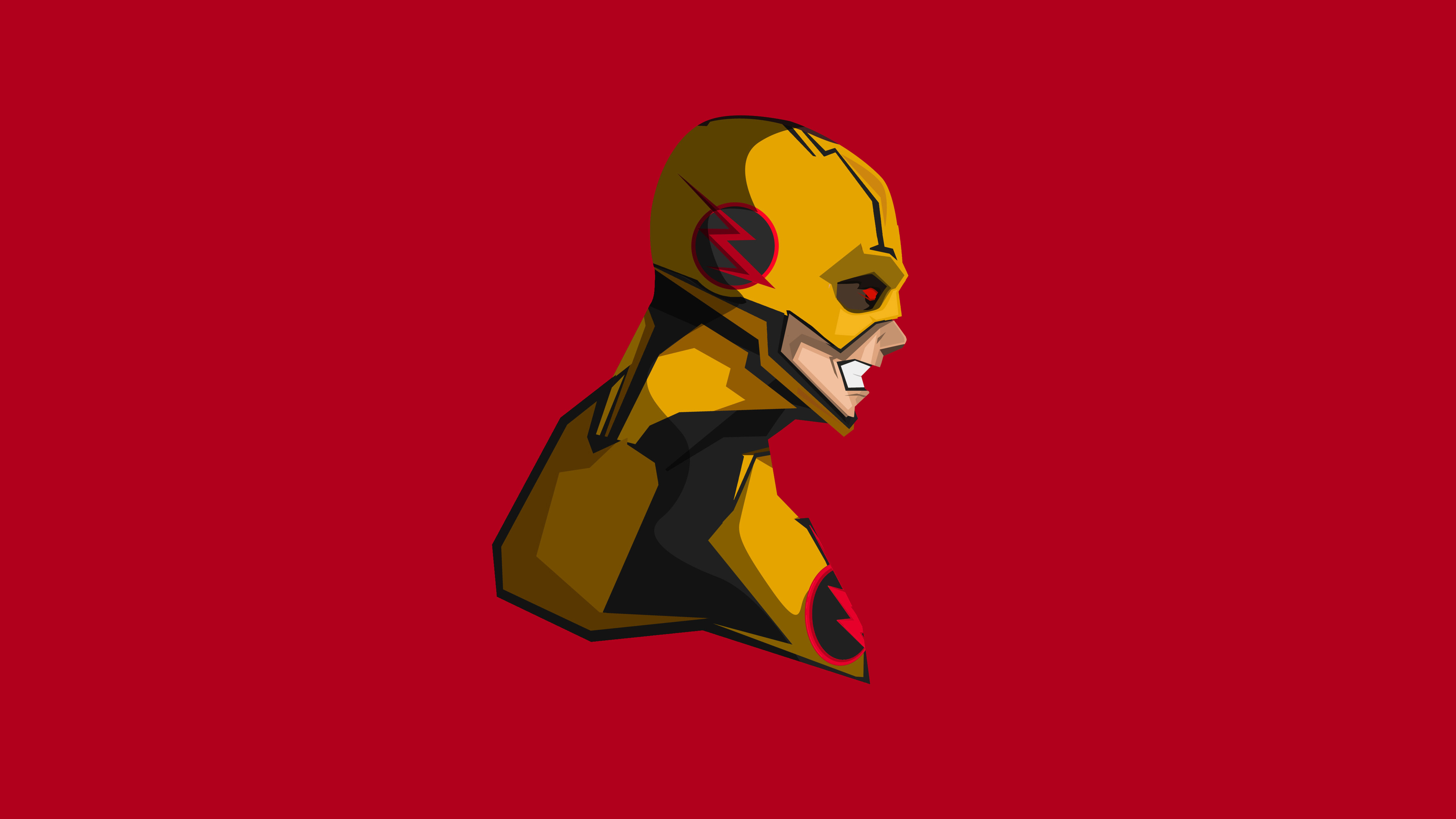 Wallpaper 4k Reverse Flash 4k Minimalism 4k Wallpapers Artist
