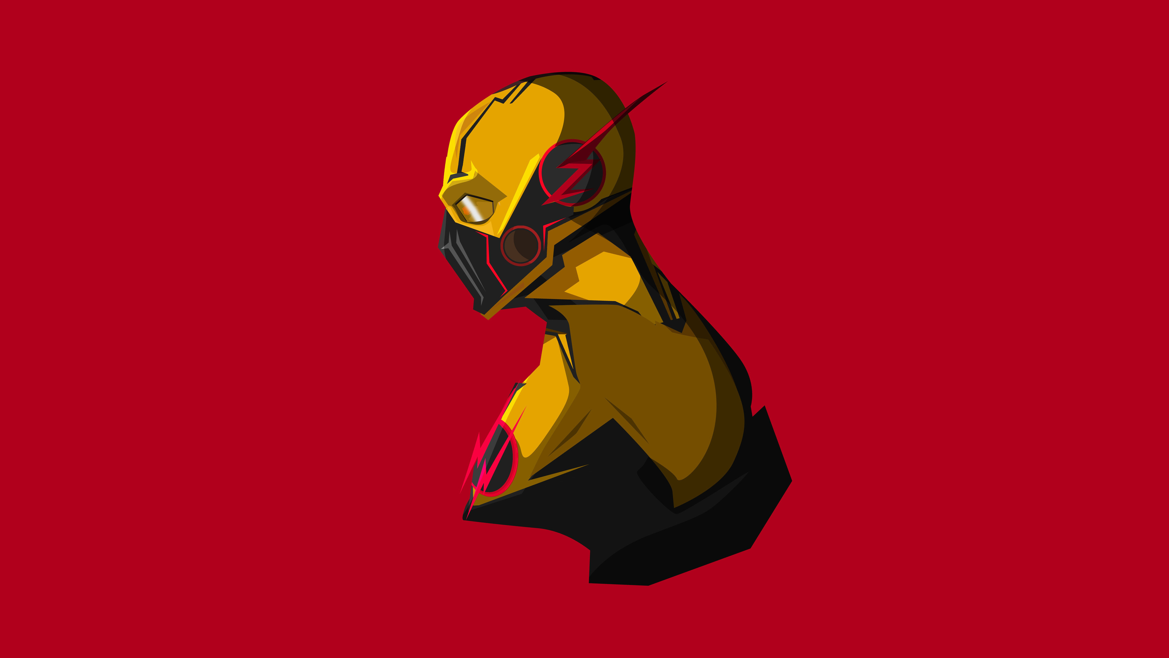 Wallpaper 4k Reverse Flash Minimalism 4k 4k Wallpapers Artist