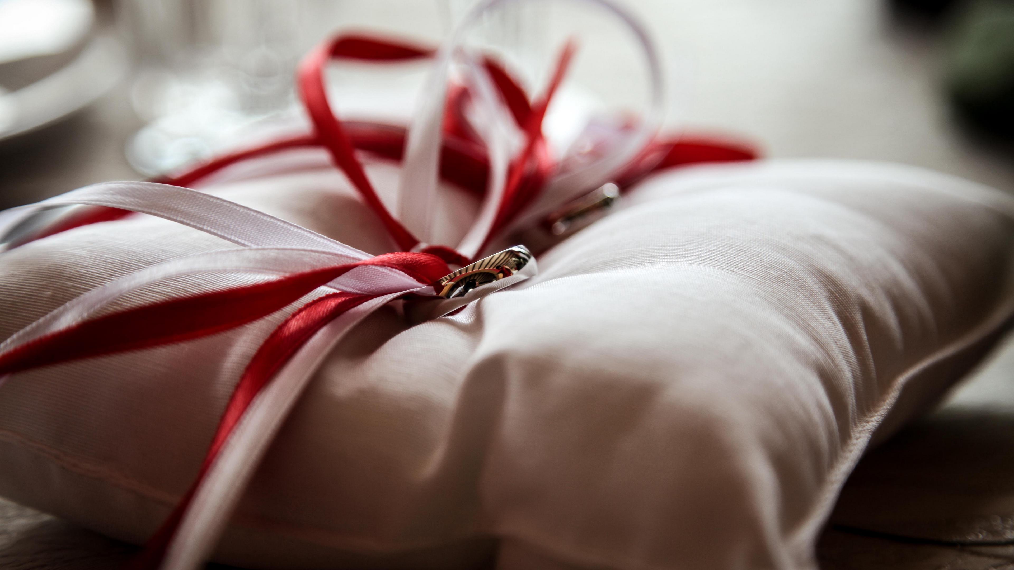 rings wedding bands pillow 4k 1538344775 - rings, wedding, bands, pillow 4k - Wedding, Rings, bands